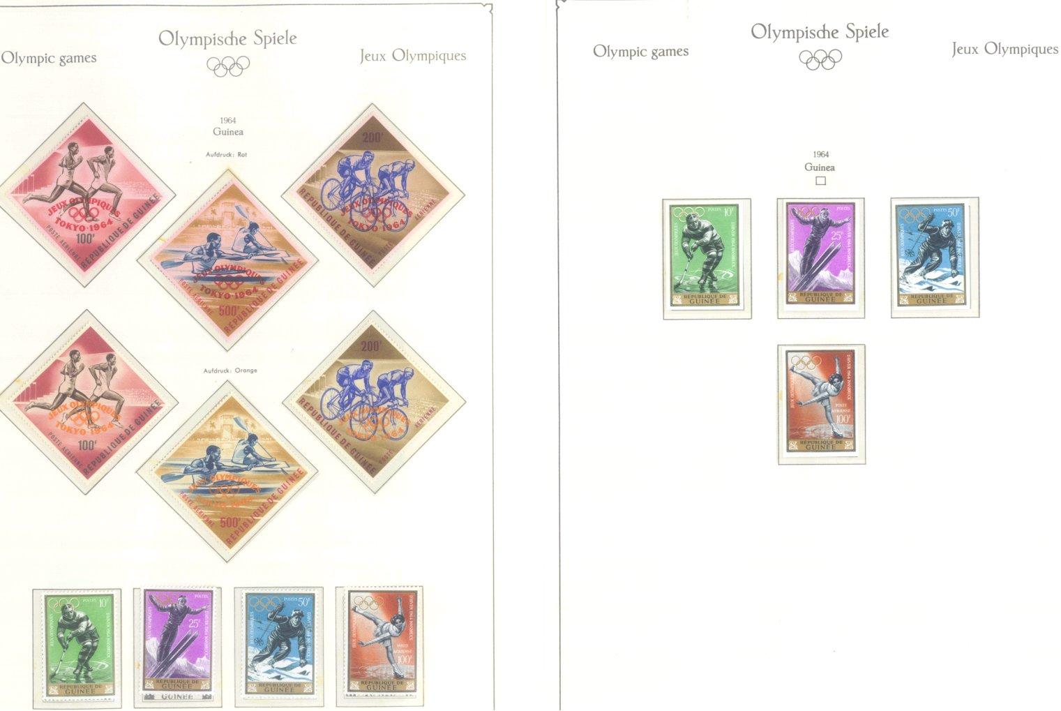 OLYMPISCHE SPIELE 1964 TOKIO, postfrische Sammlung Teil 1-17