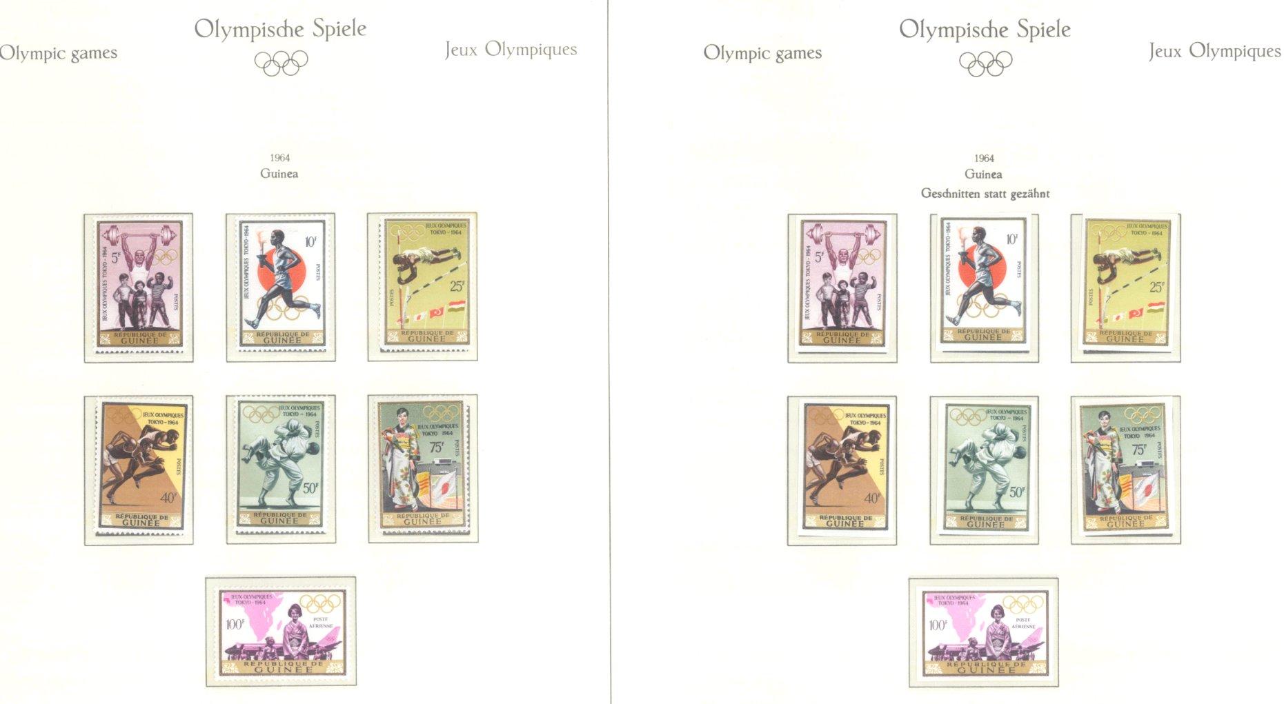 OLYMPISCHE SPIELE 1964 TOKIO, postfrische Sammlung Teil 1-18
