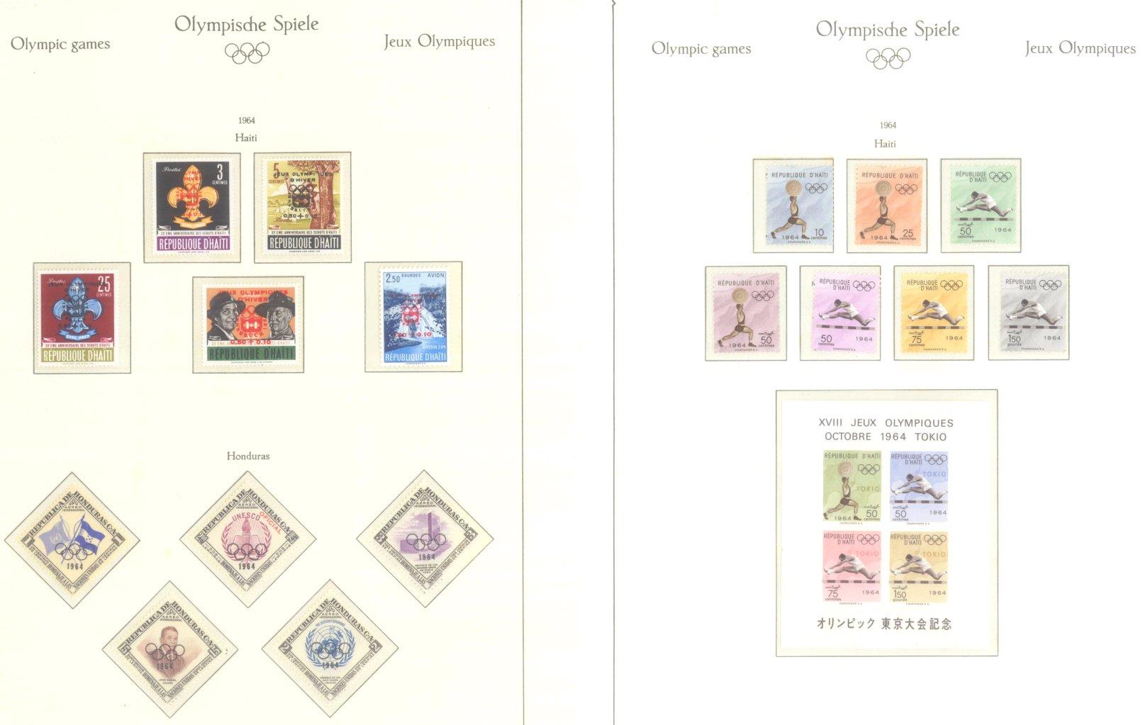 OLYMPISCHE SPIELE 1964 TOKIO, postfrische Sammlung Teil 1-20