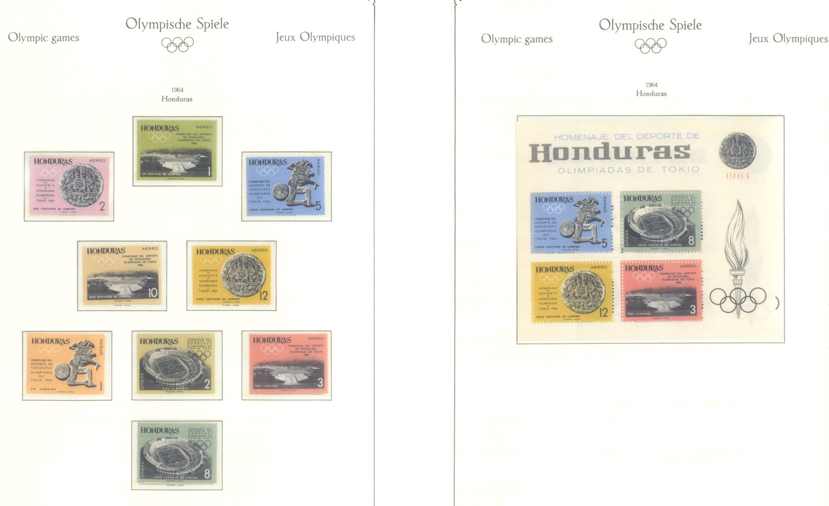 OLYMPISCHE SPIELE 1964 TOKIO, postfrische Sammlung Teil 1-23