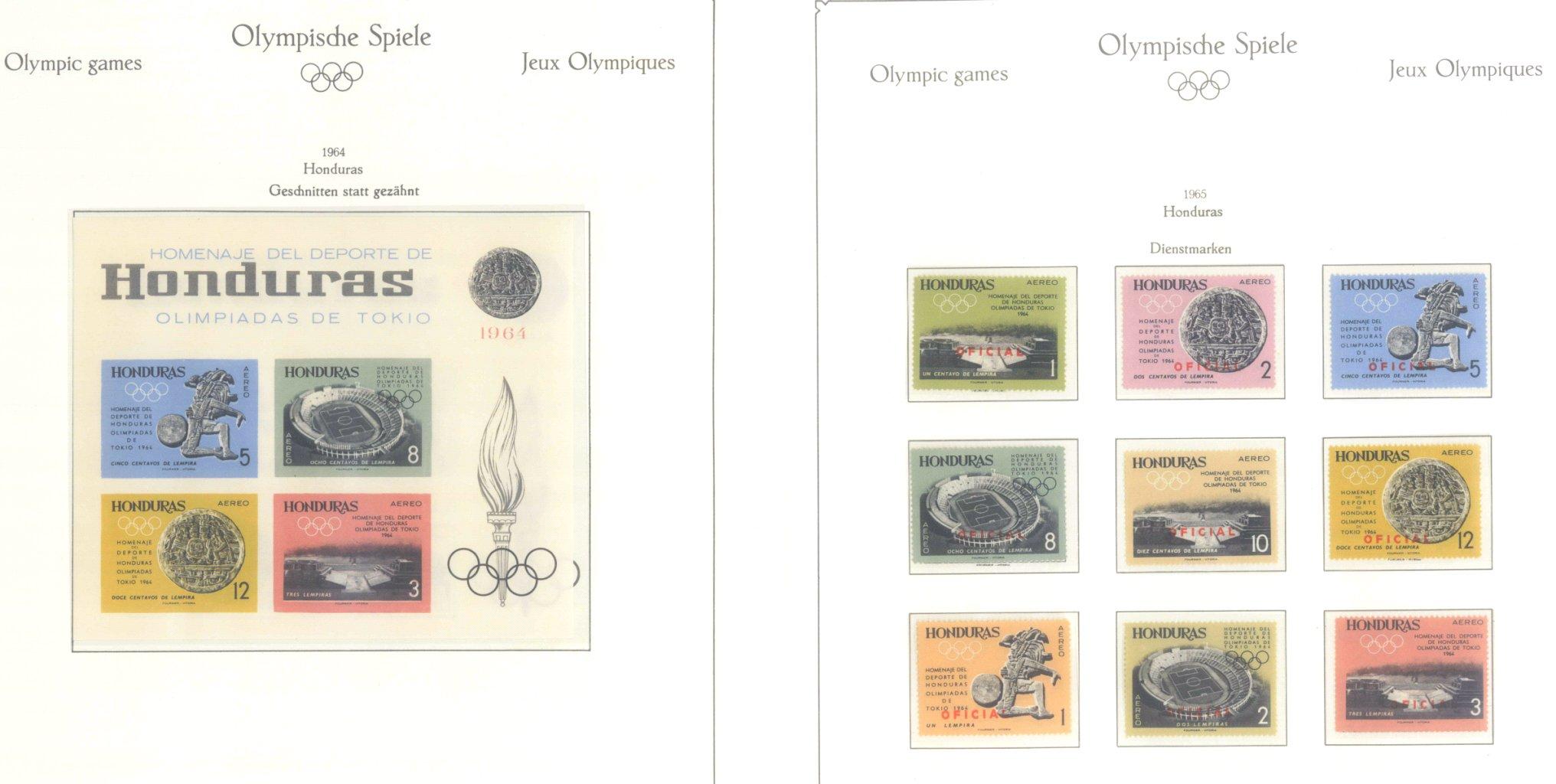 OLYMPISCHE SPIELE 1964 TOKIO, postfrische Sammlung Teil 1-24