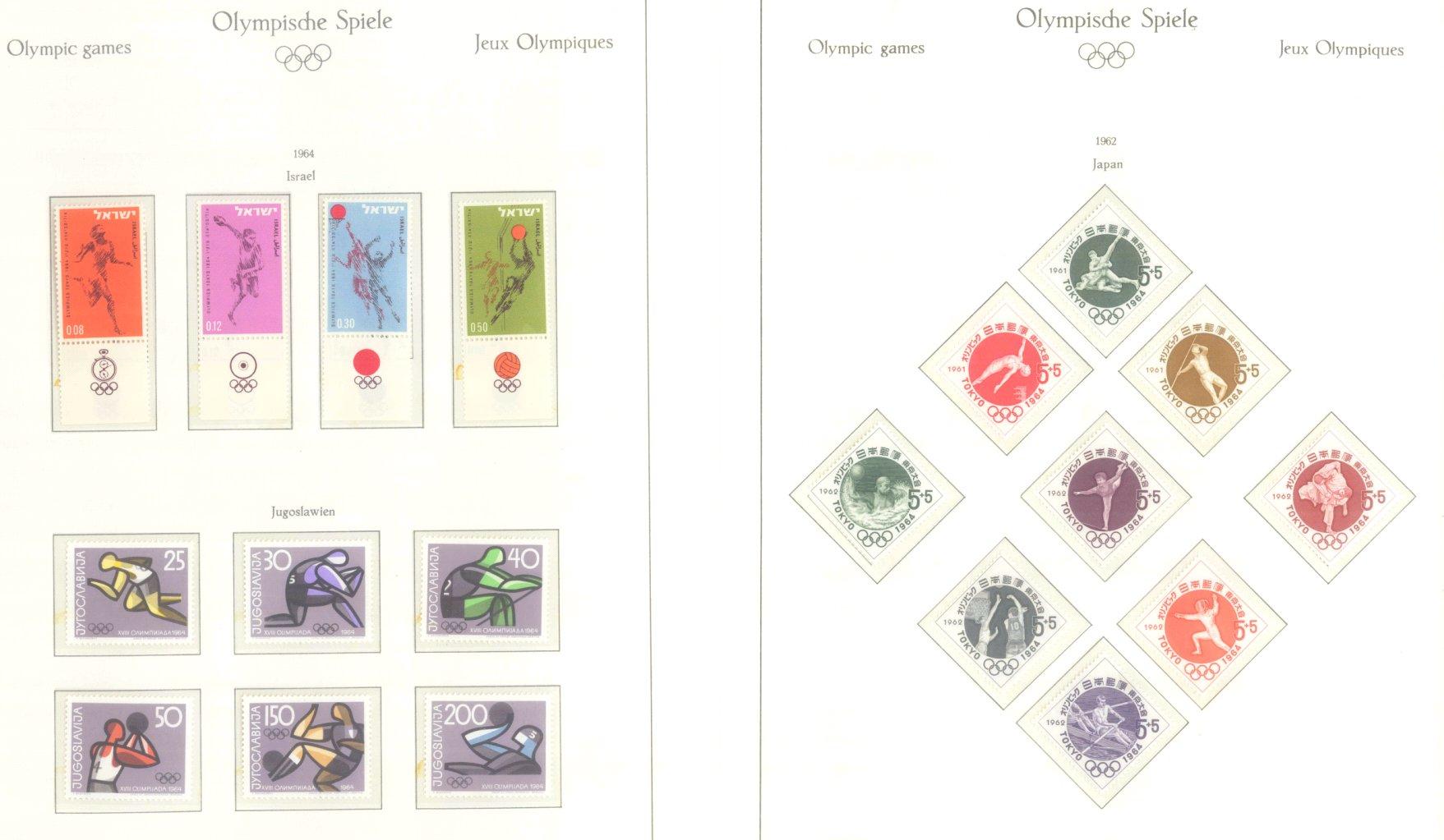 OLYMPISCHE SPIELE 1964 TOKIO, postfrische Sammlung Teil 1-25
