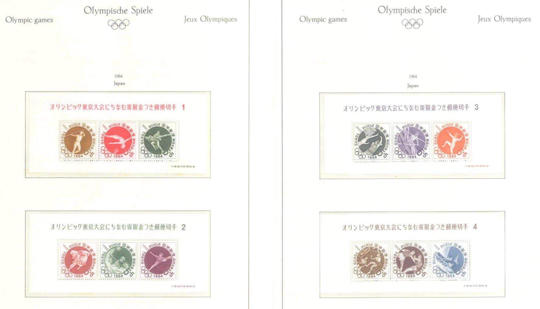 OLYMPISCHE SPIELE 1964 TOKIO, postfrische Sammlung Teil 1-27