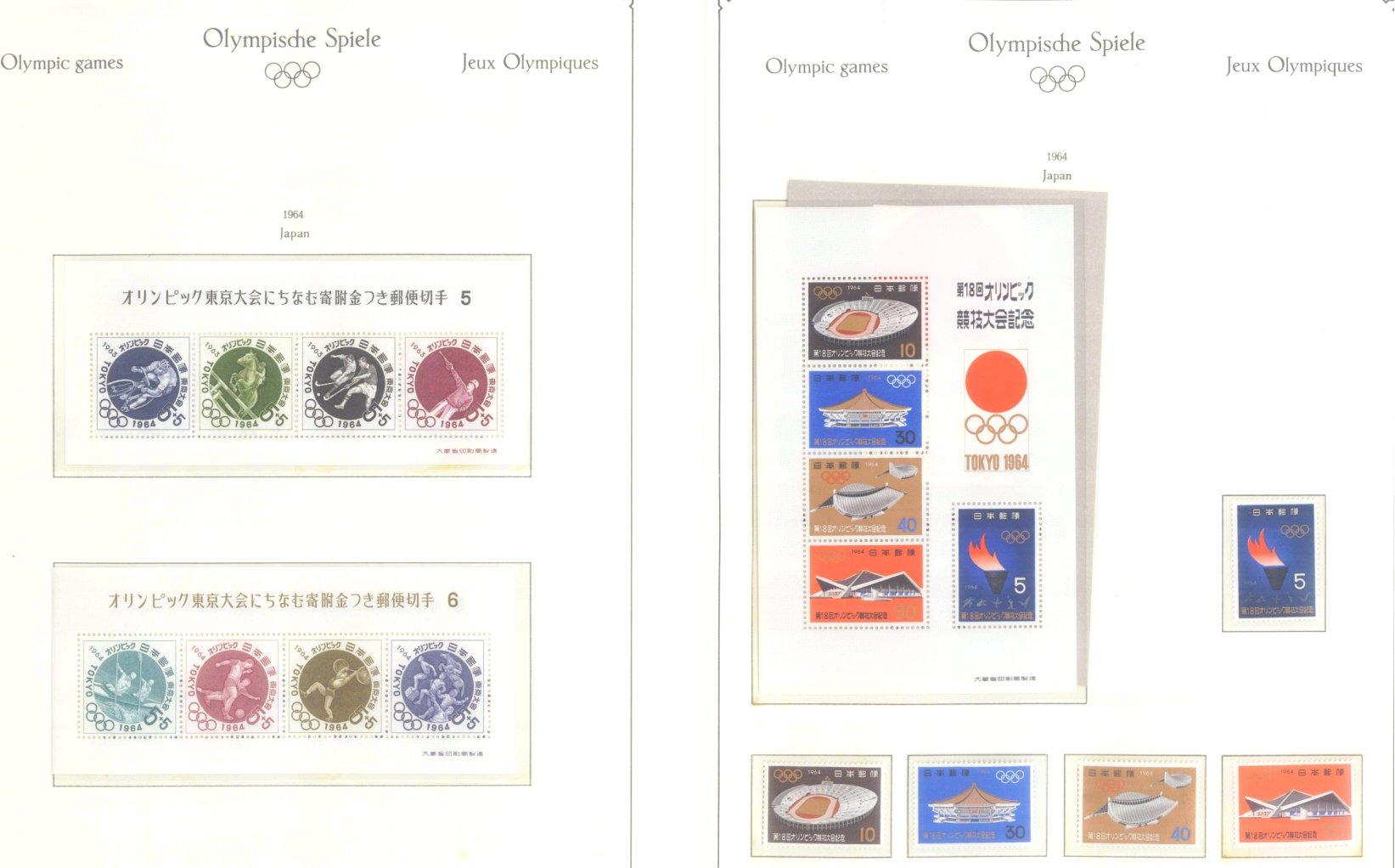 OLYMPISCHE SPIELE 1964 TOKIO, postfrische Sammlung Teil 1-28