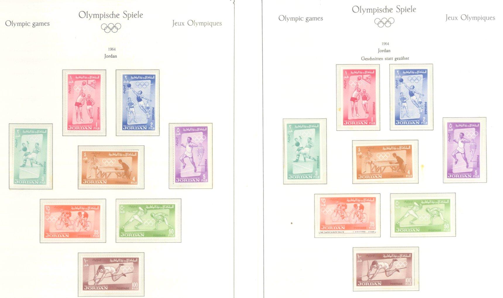 OLYMPISCHE SPIELE 1964 TOKIO, postfrische Sammlung Teil 1-29