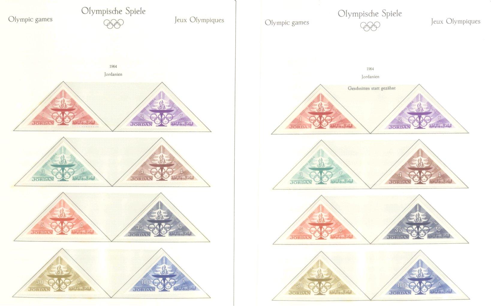 OLYMPISCHE SPIELE 1964 TOKIO, postfrische Sammlung Teil 1-31