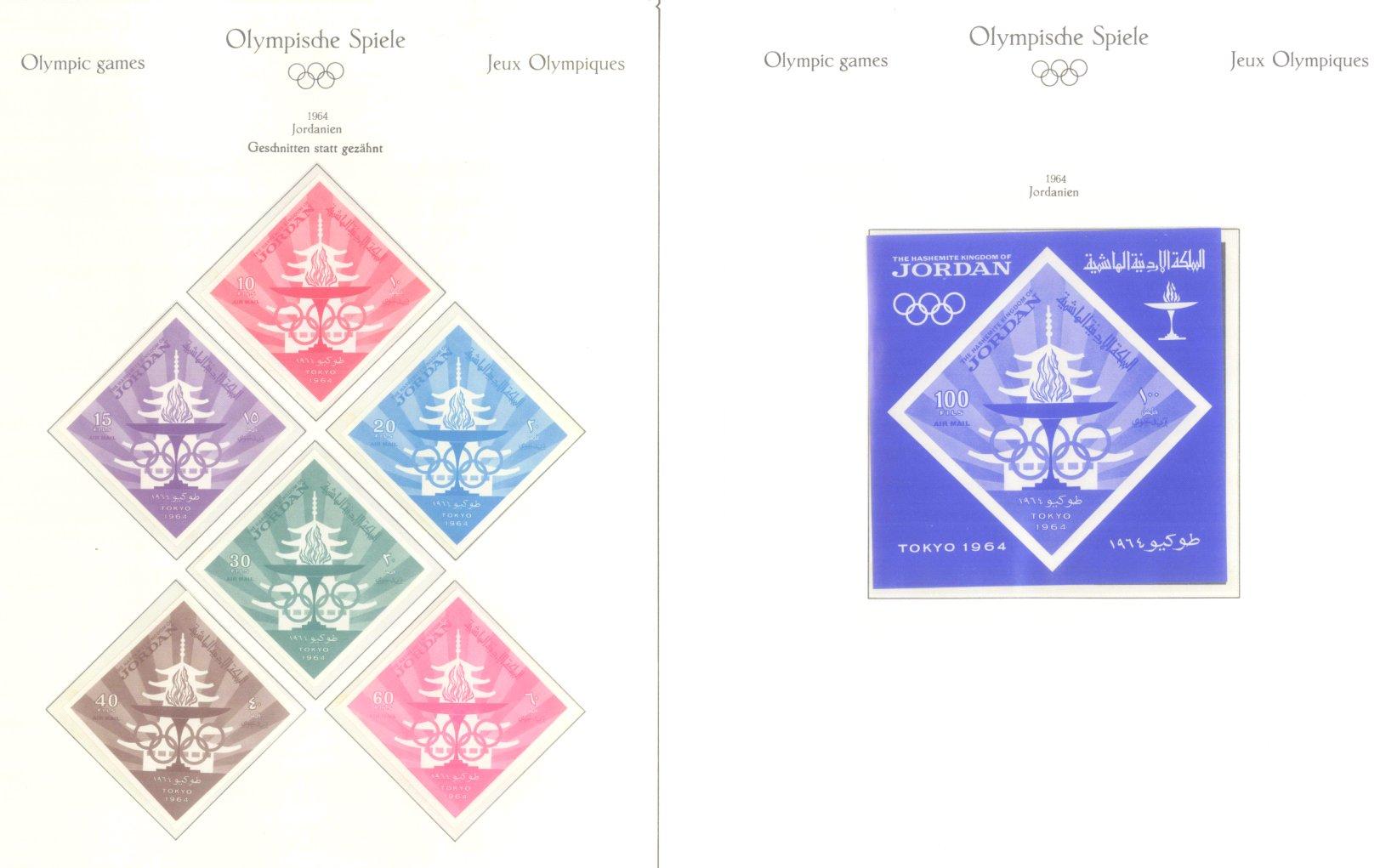 OLYMPISCHE SPIELE 1964 TOKIO, postfrische Sammlung Teil 1-33