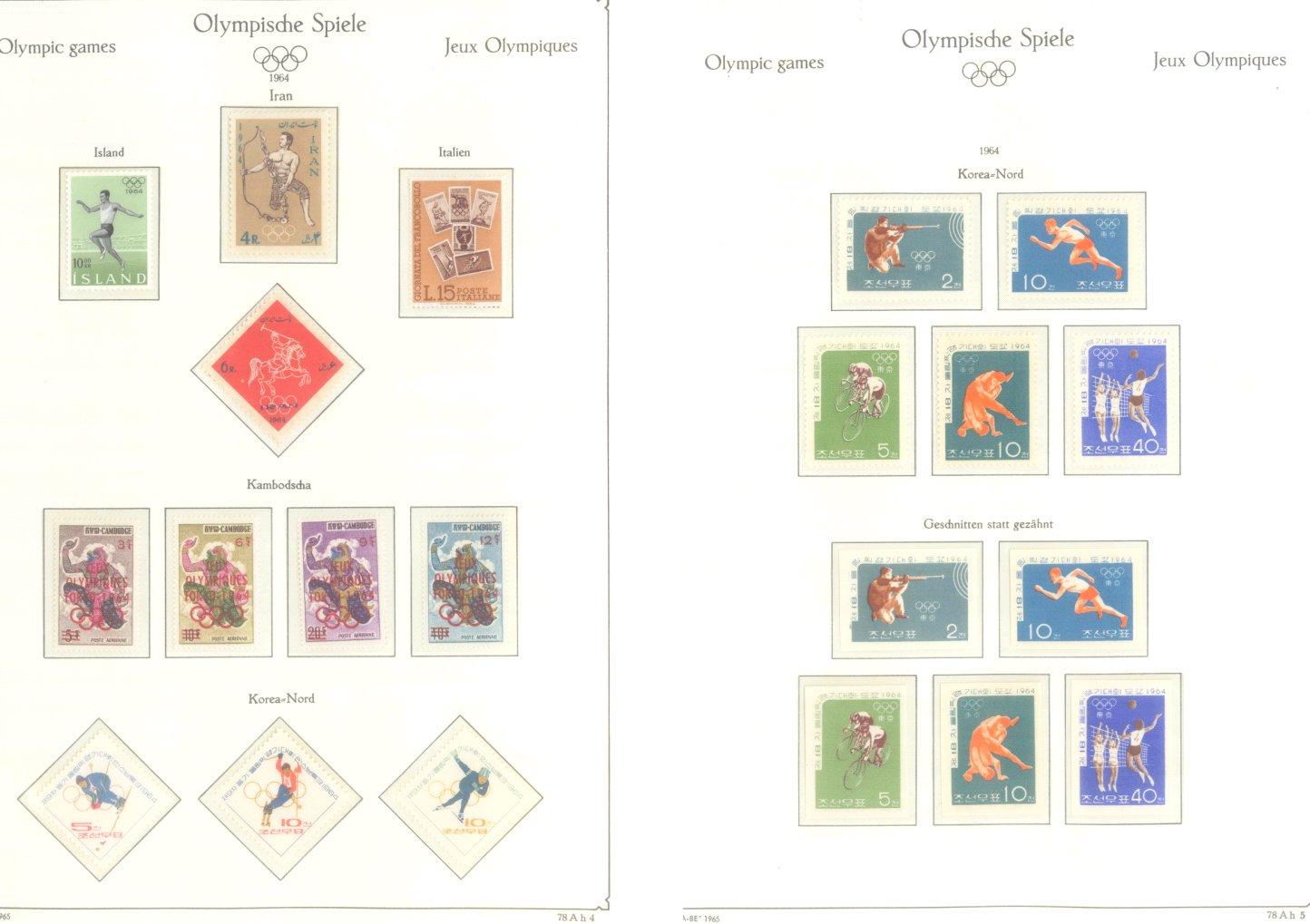 OLYMPISCHE SPIELE 1964 TOKIO, postfrische Sammlung Teil 1-34