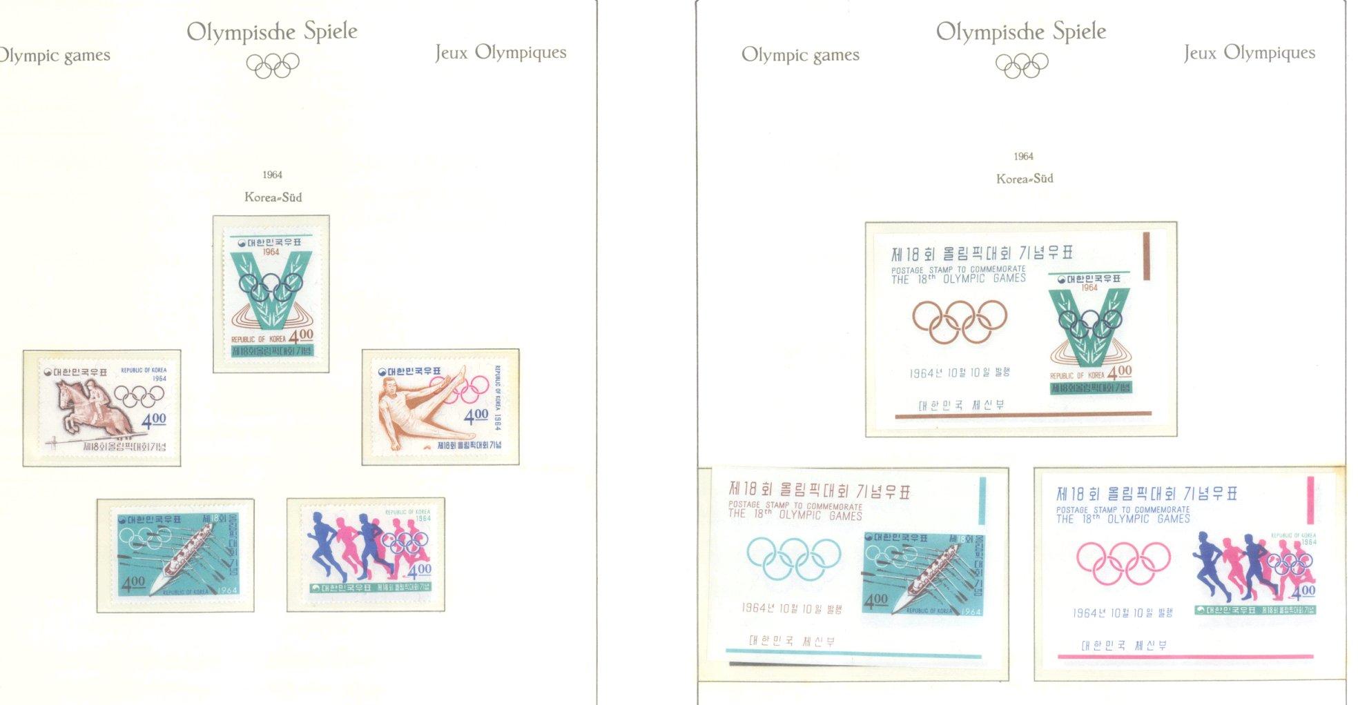 OLYMPISCHE SPIELE 1964 TOKIO, postfrische Sammlung Teil 1-35