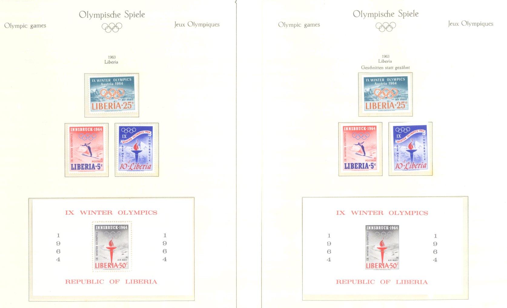 OLYMPISCHE SPIELE 1964 TOKIO, postfrische Sammlung Teil 1-39