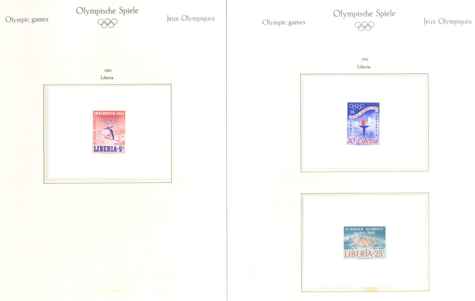 OLYMPISCHE SPIELE 1964 TOKIO, postfrische Sammlung Teil 1-40