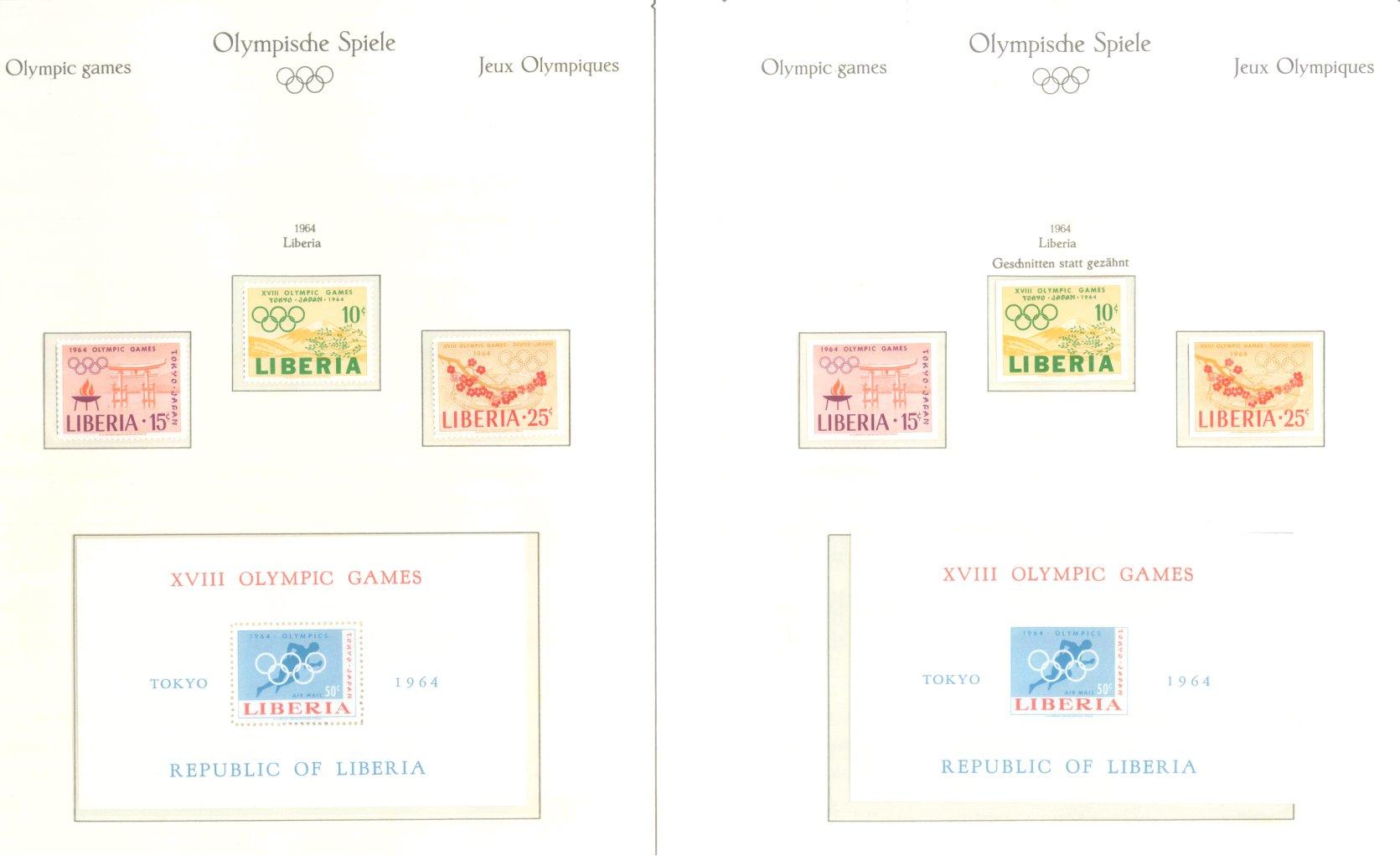 OLYMPISCHE SPIELE 1964 TOKIO, postfrische Sammlung Teil 1-41