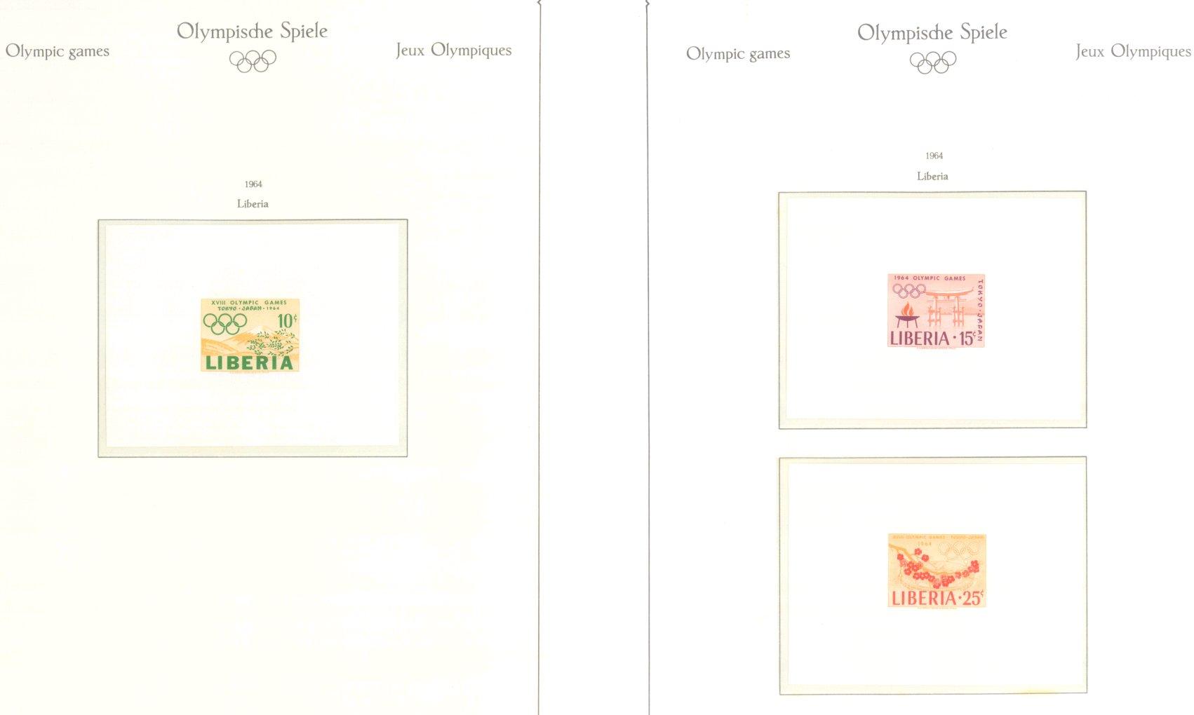 OLYMPISCHE SPIELE 1964 TOKIO, postfrische Sammlung Teil 1-42