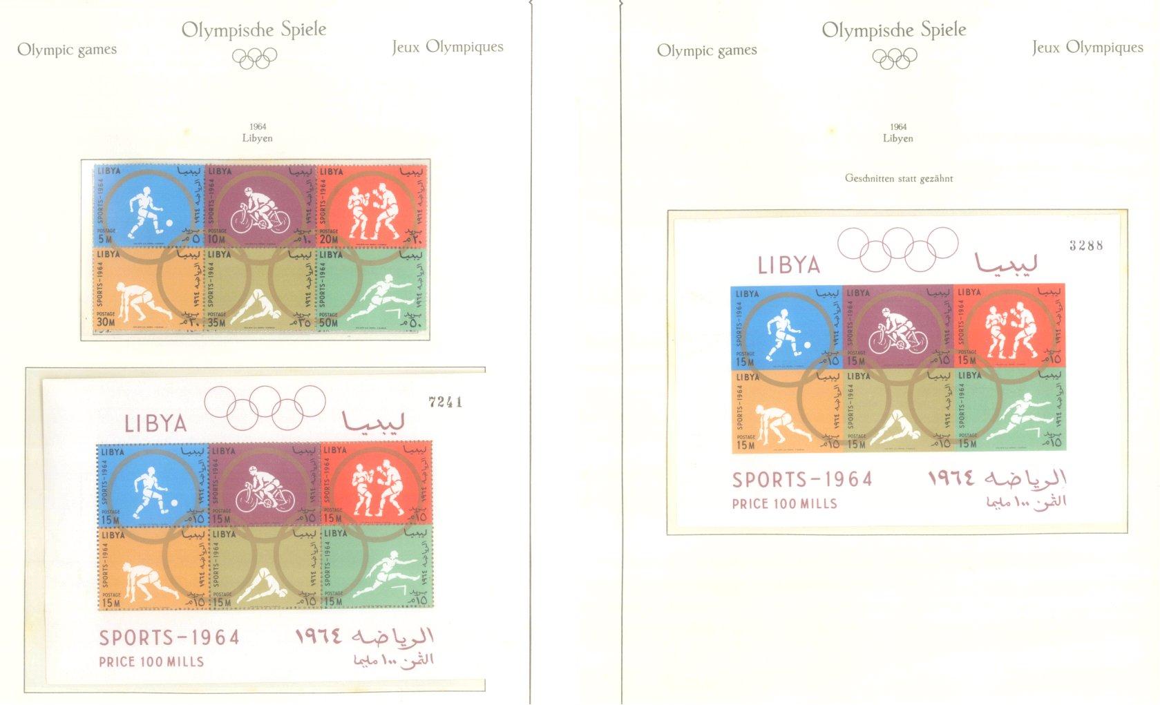 OLYMPISCHE SPIELE 1964 TOKIO, postfrische Sammlung Teil 1-43