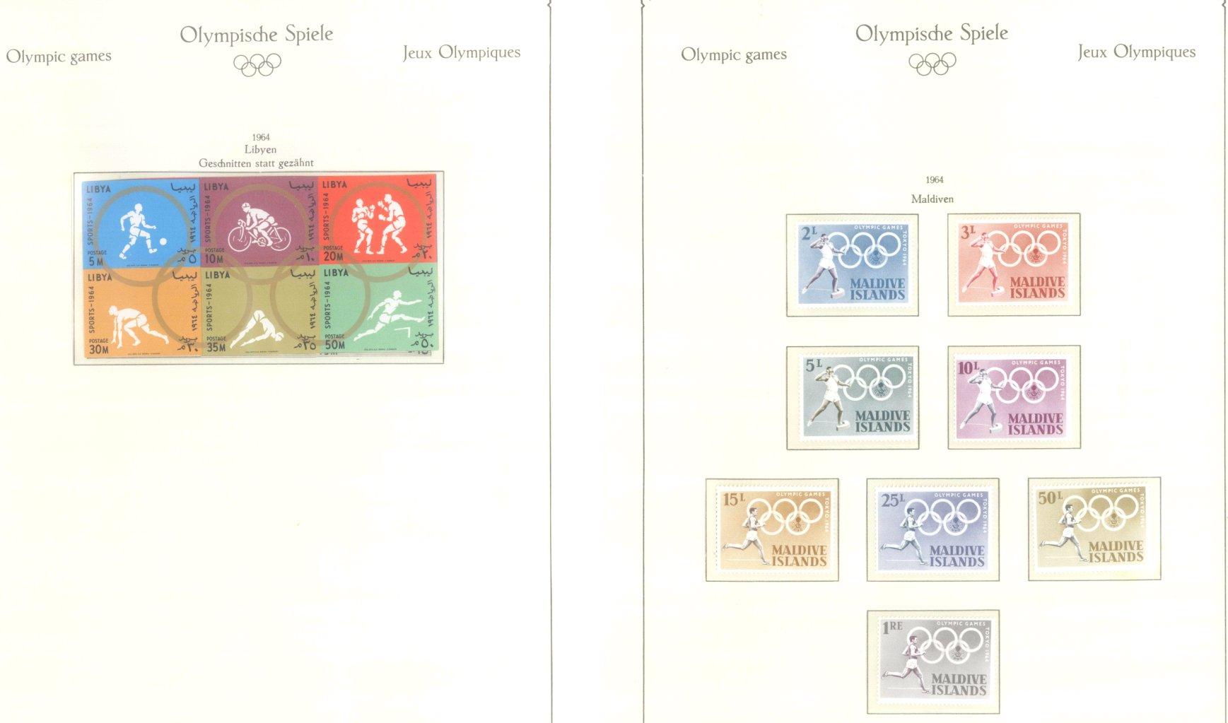 OLYMPISCHE SPIELE 1964 TOKIO, postfrische Sammlung Teil 1-44