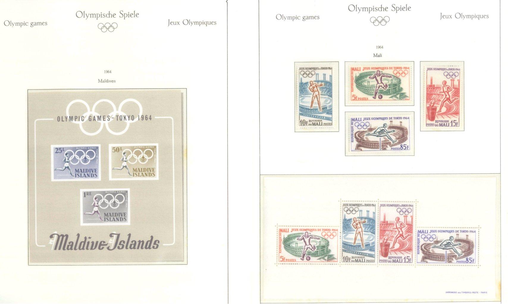 OLYMPISCHE SPIELE 1964 TOKIO, postfrische Sammlung Teil 1-45