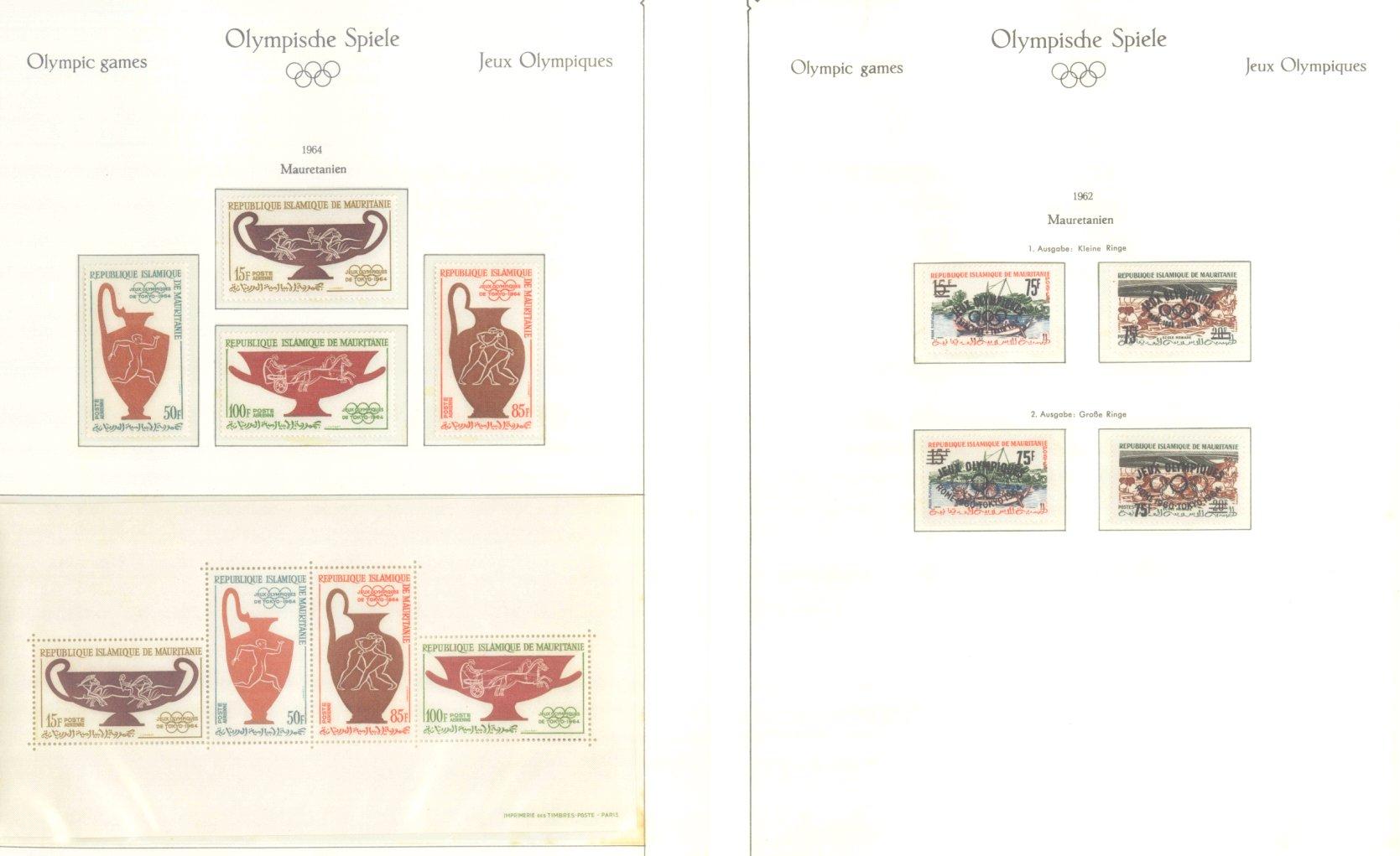 OLYMPISCHE SPIELE 1964 TOKIO, postfrische Sammlung Teil 1-46