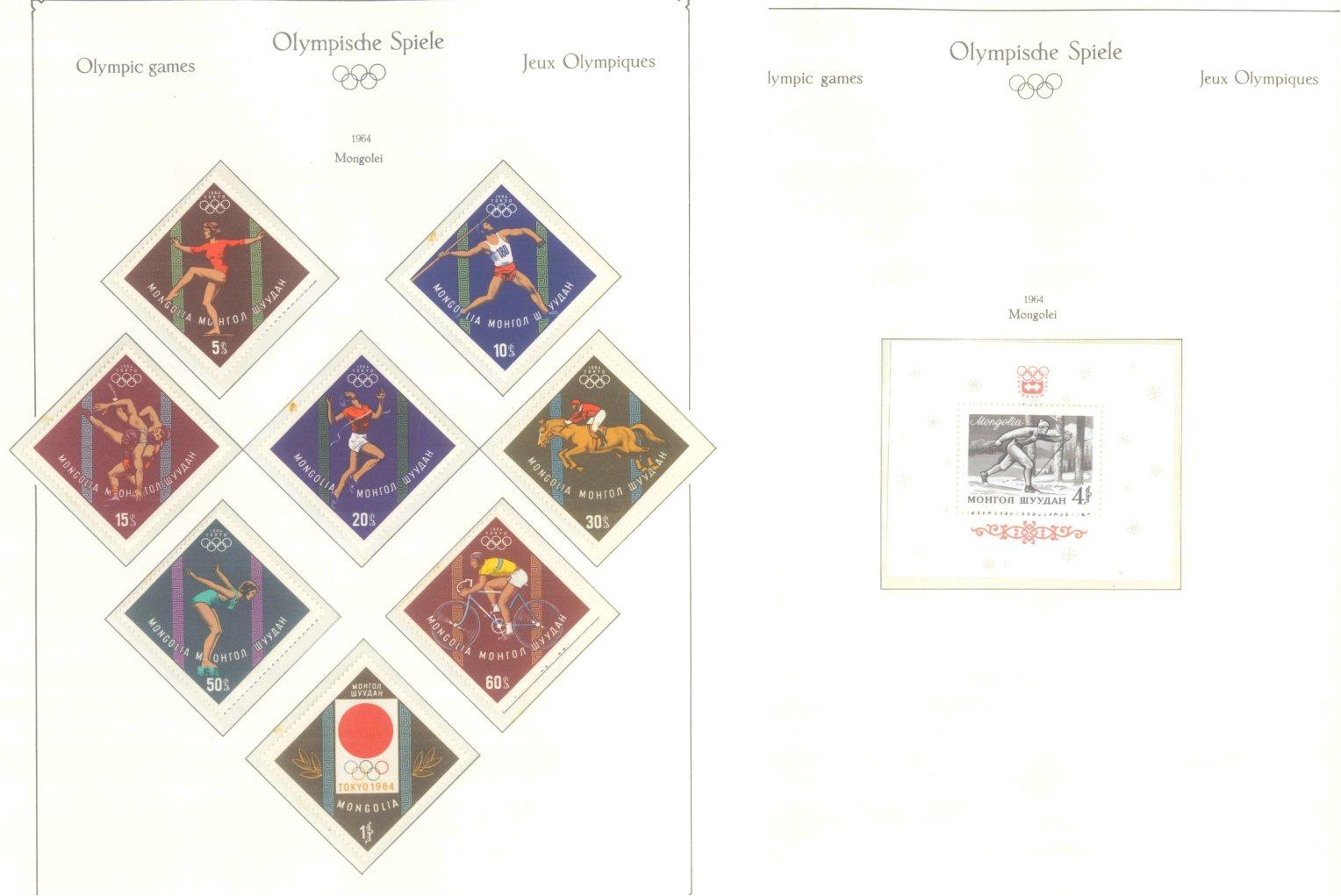 OLYMPISCHE SPIELE 1964 TOKIO, postfrische Sammlung Teil 1-47