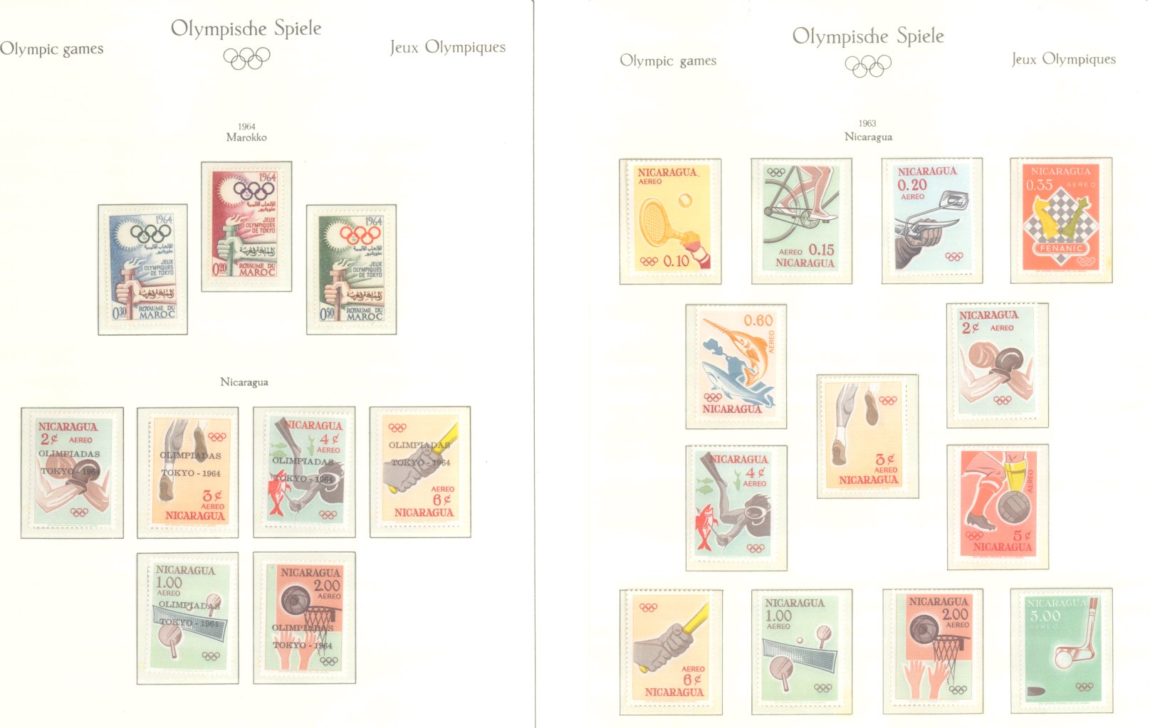 OLYMPISCHE SPIELE 1964 TOKIO, postfrische Sammlung Teil 1-49