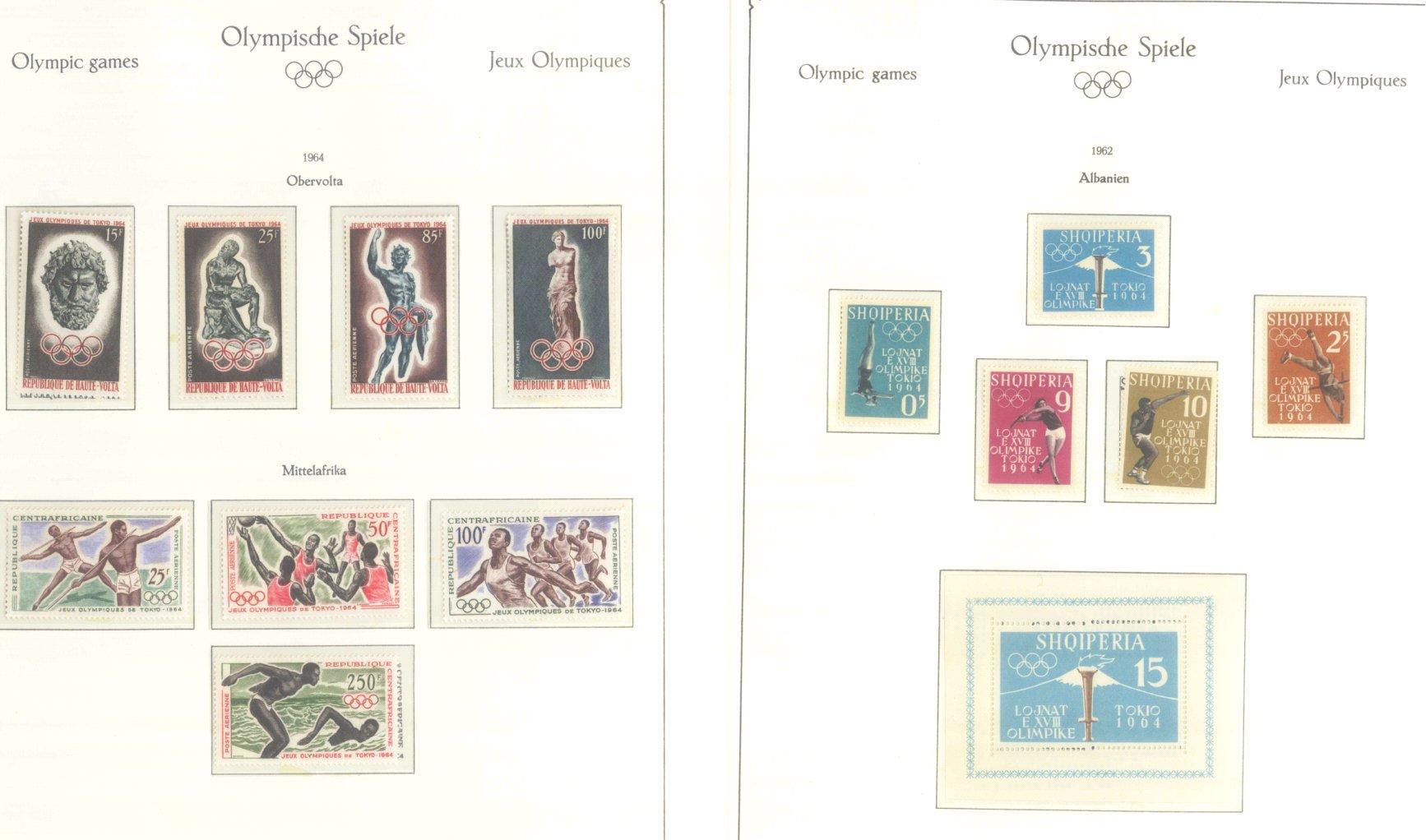 OLYMPISCHE SPIELE 1964 TOKIO, postfrische Sammlung Teil 1-51