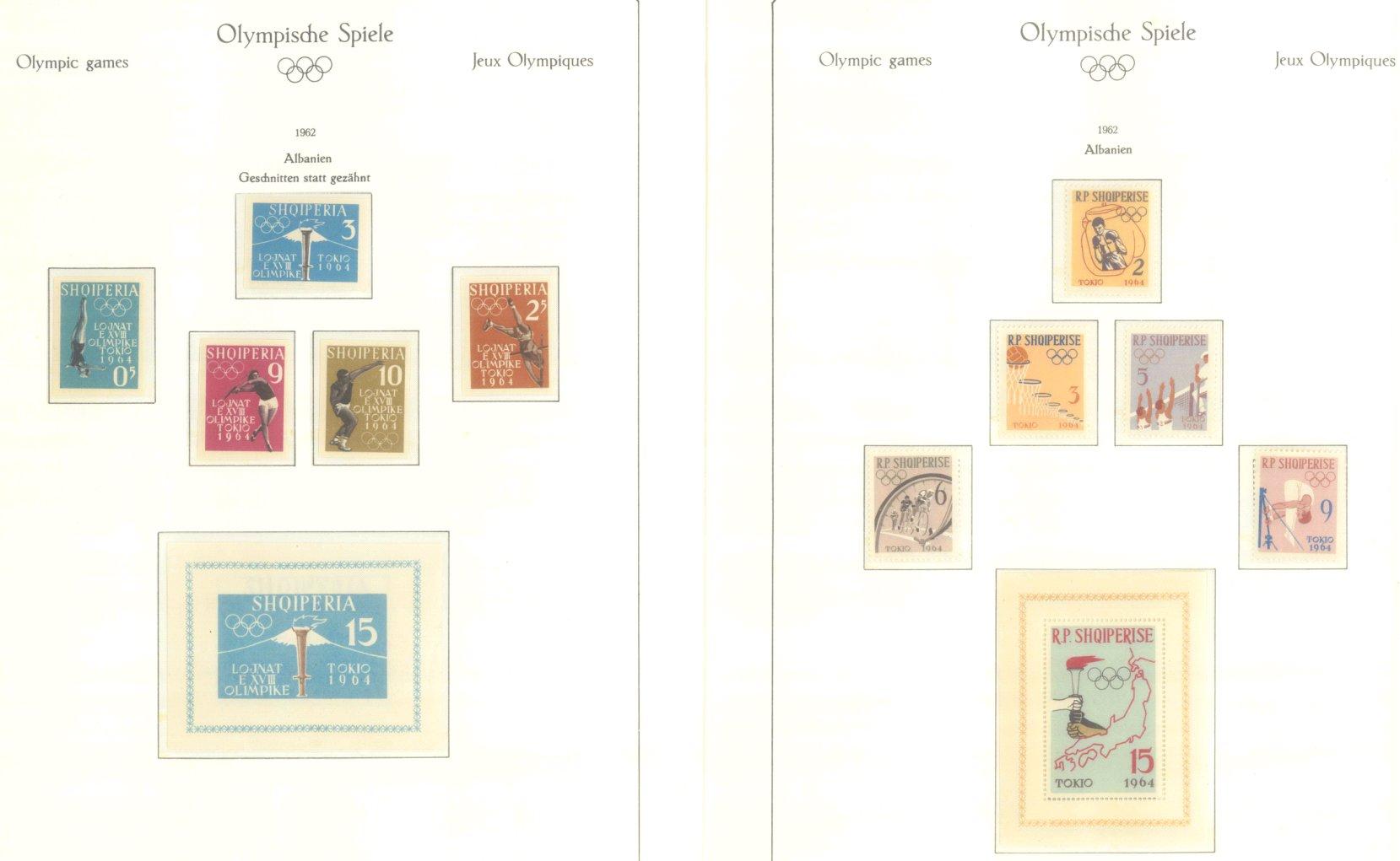 OLYMPISCHE SPIELE 1964 TOKIO, postfrische Sammlung Teil 1-52