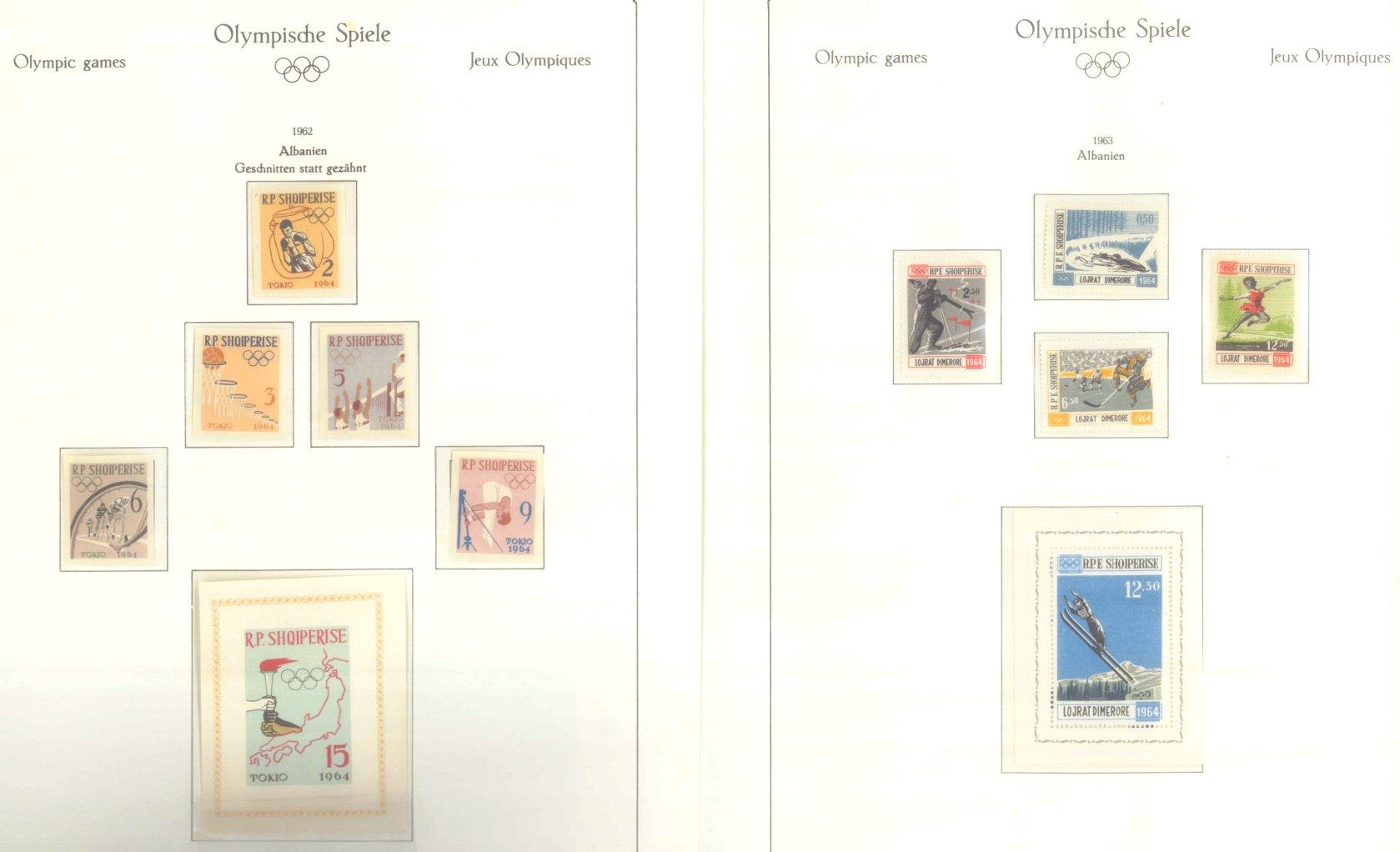 OLYMPISCHE SPIELE 1964 TOKIO, postfrische Sammlung Teil 1-53