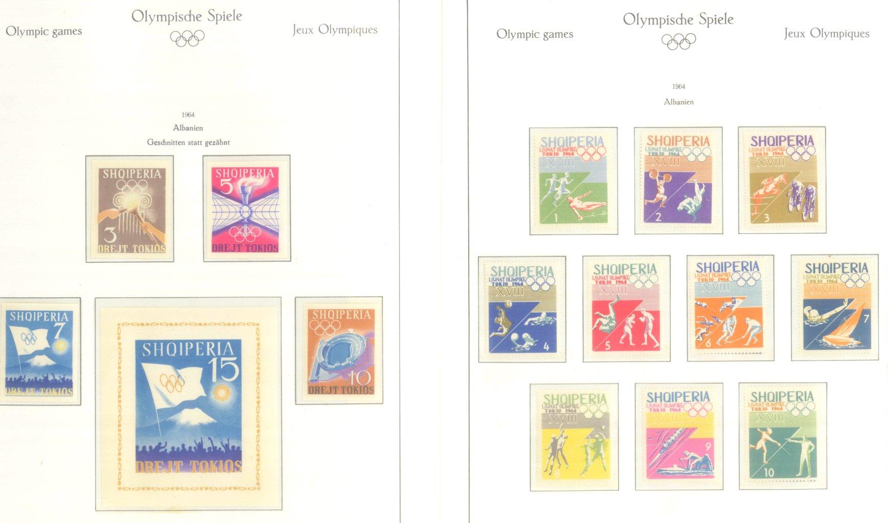 OLYMPISCHE SPIELE 1964 TOKIO, postfrische Sammlung Teil 1-55