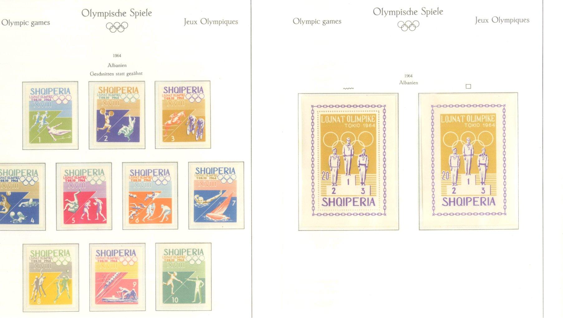 OLYMPISCHE SPIELE 1964 TOKIO, postfrische Sammlung Teil 1-56
