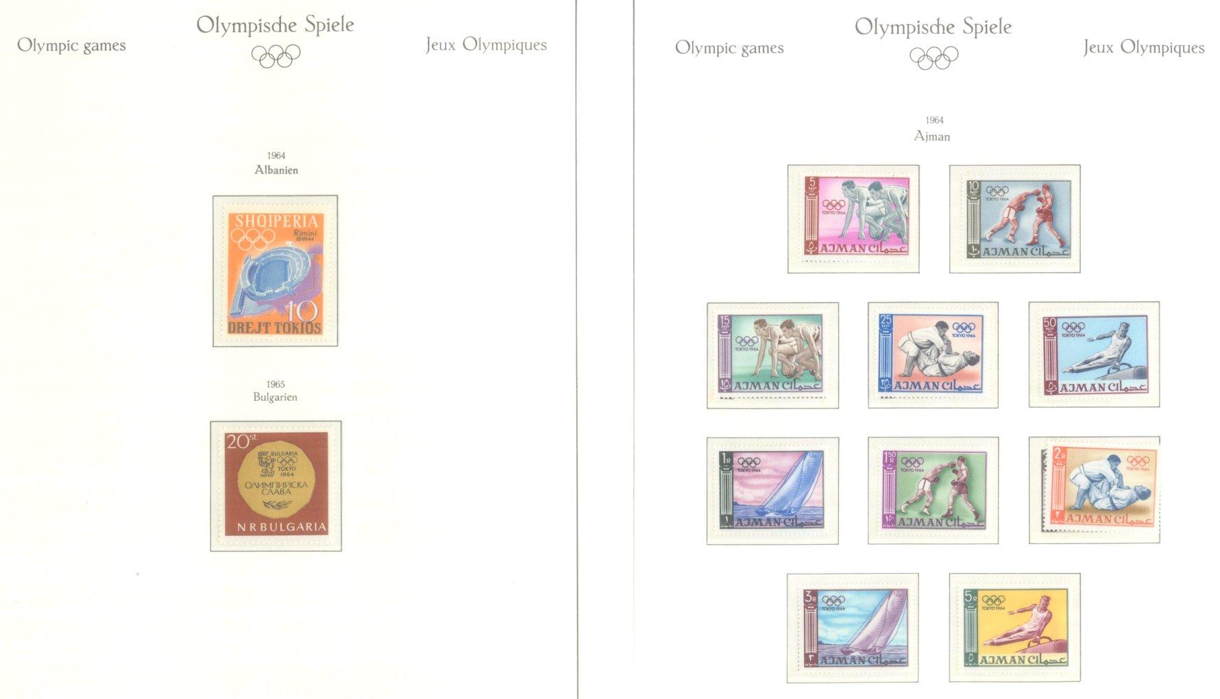 OLYMPISCHE SPIELE 1964 TOKIO, postfrische Sammlung Teil 1-57