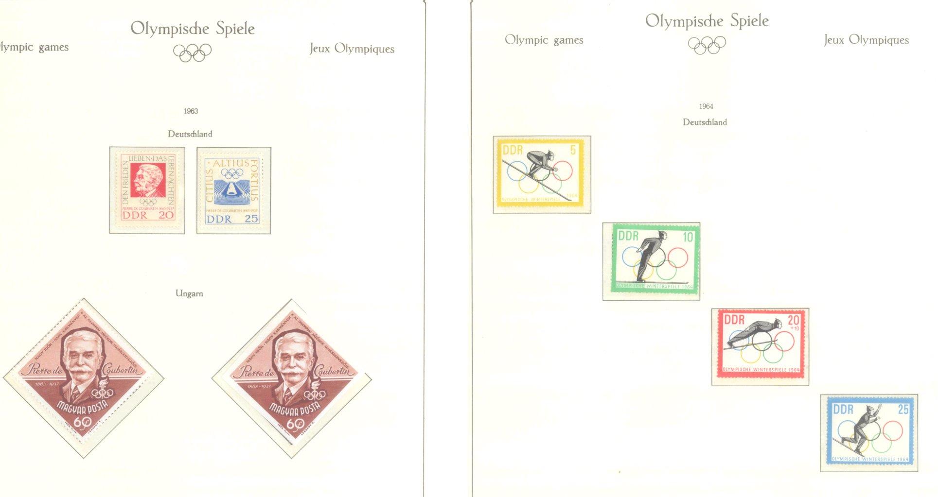 OLYMPISCHE SPIELE 1964 TOKIO, postfrische Sammlung Teil 1-61