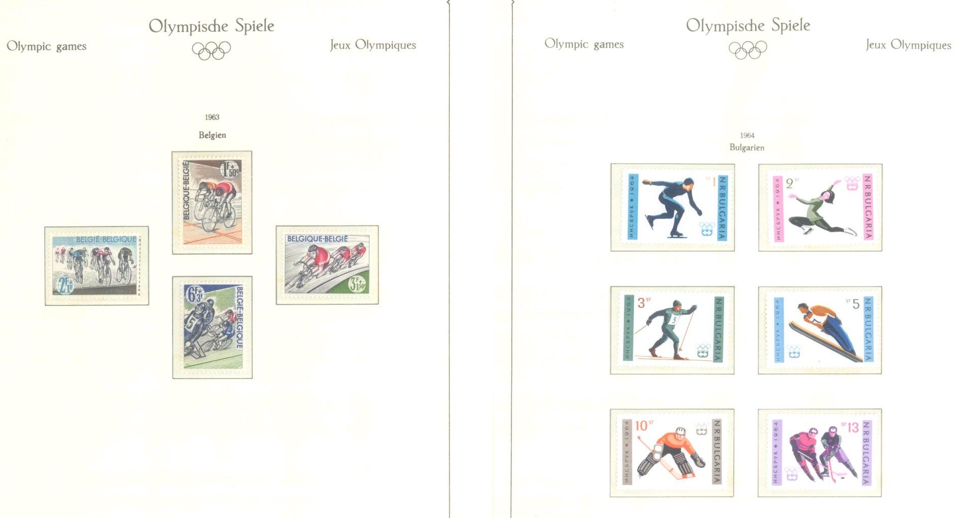 OLYMPISCHE SPIELE 1964 TOKIO, postfrische Sammlung Teil 1-63