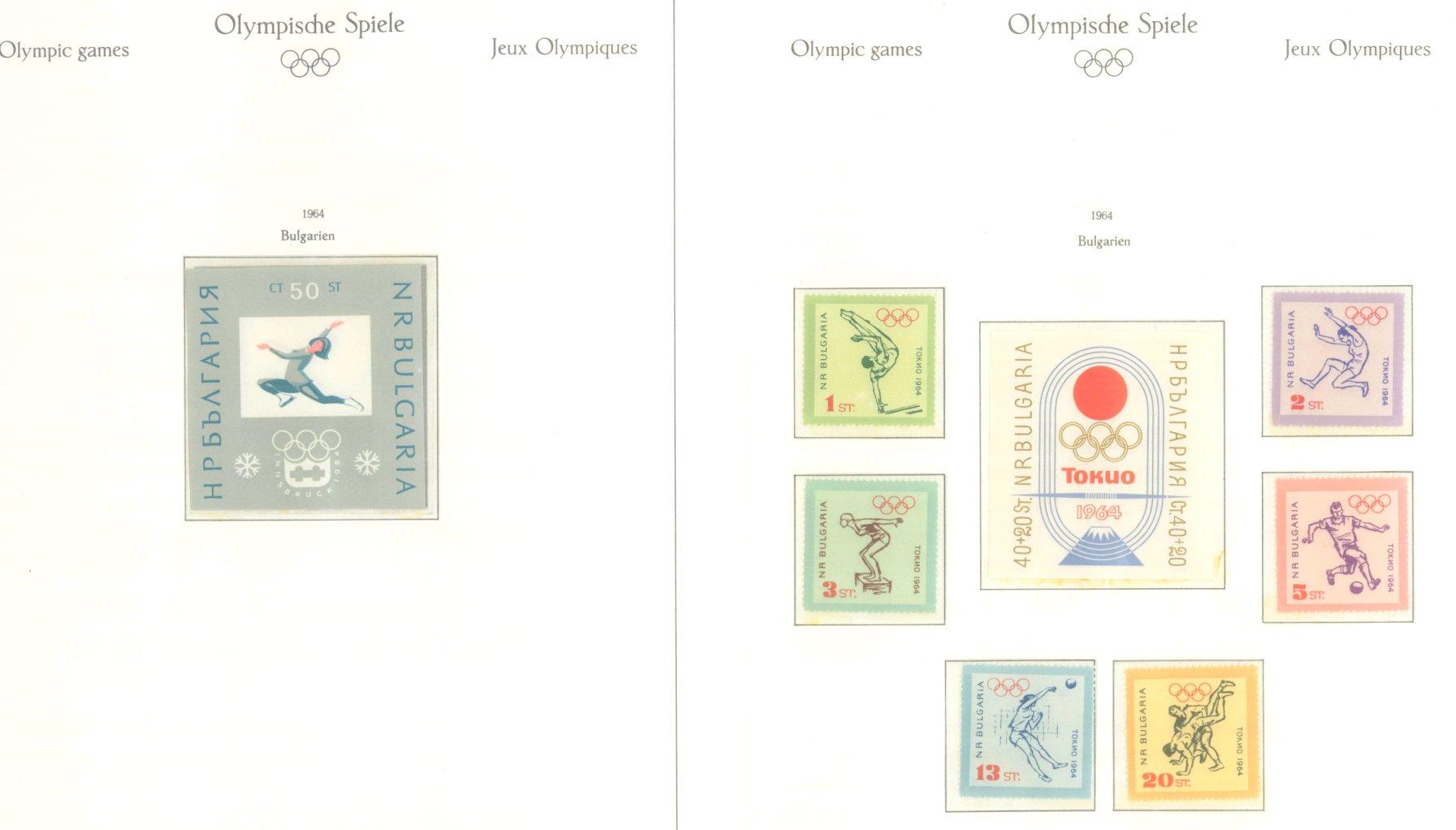 OLYMPISCHE SPIELE 1964 TOKIO, postfrische Sammlung Teil 1-64