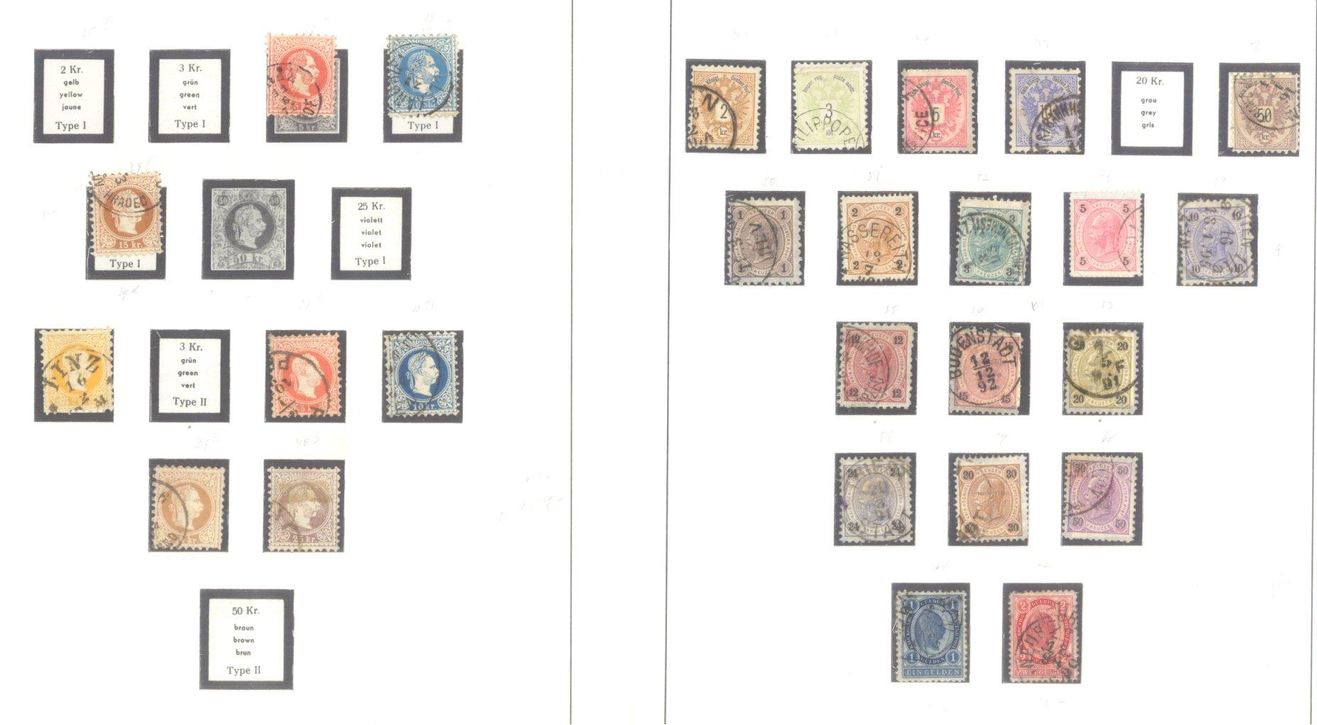 ÖSTERREICH 1850-1937-2