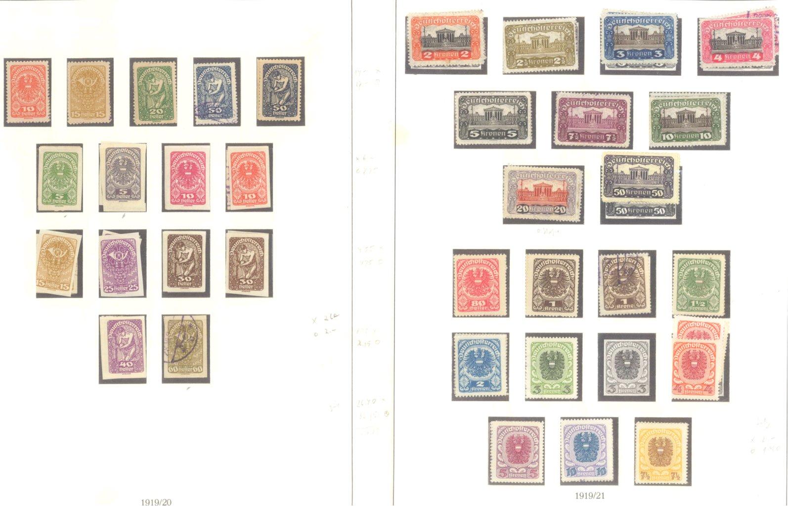 ÖSTERREICH 1850-1937-8