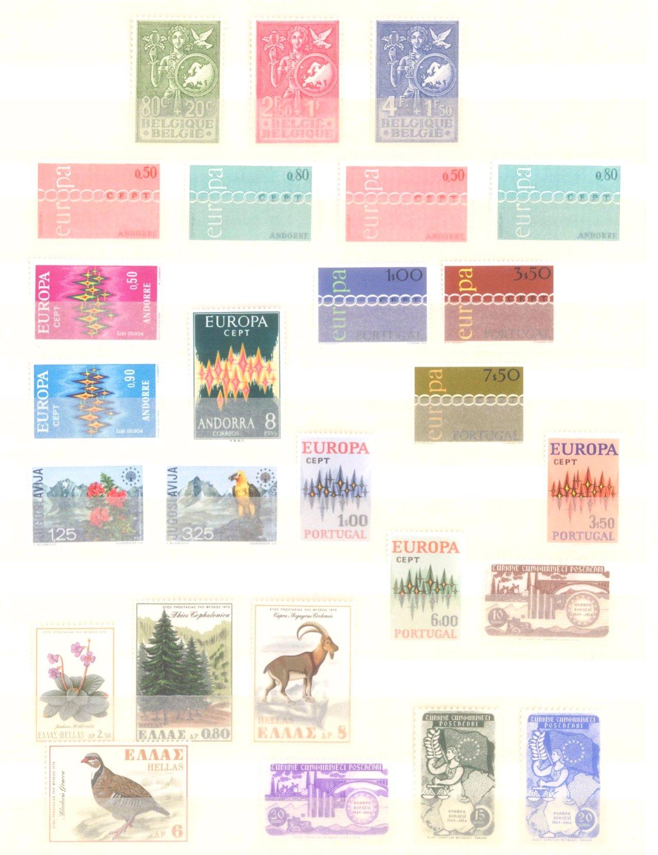 EURROPA CEPT mit SPANISCH – ANDORRA 1972