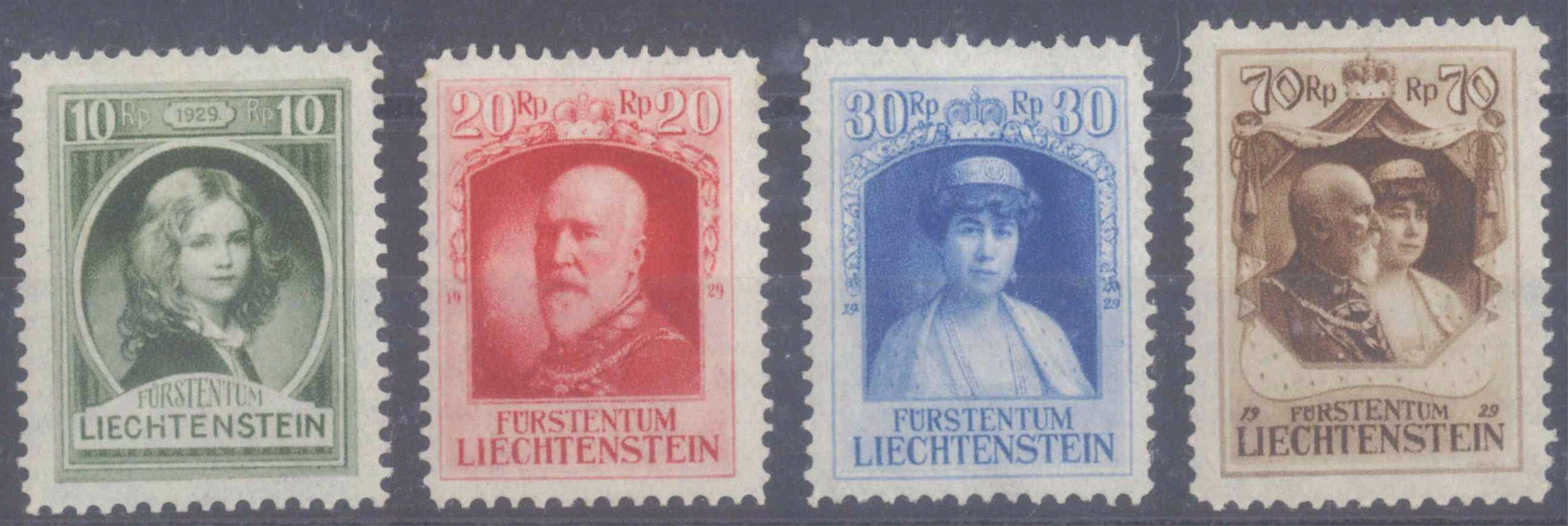 LIECHTENSTEIN 1929, Rgierungsantritt Fürst Franz I.