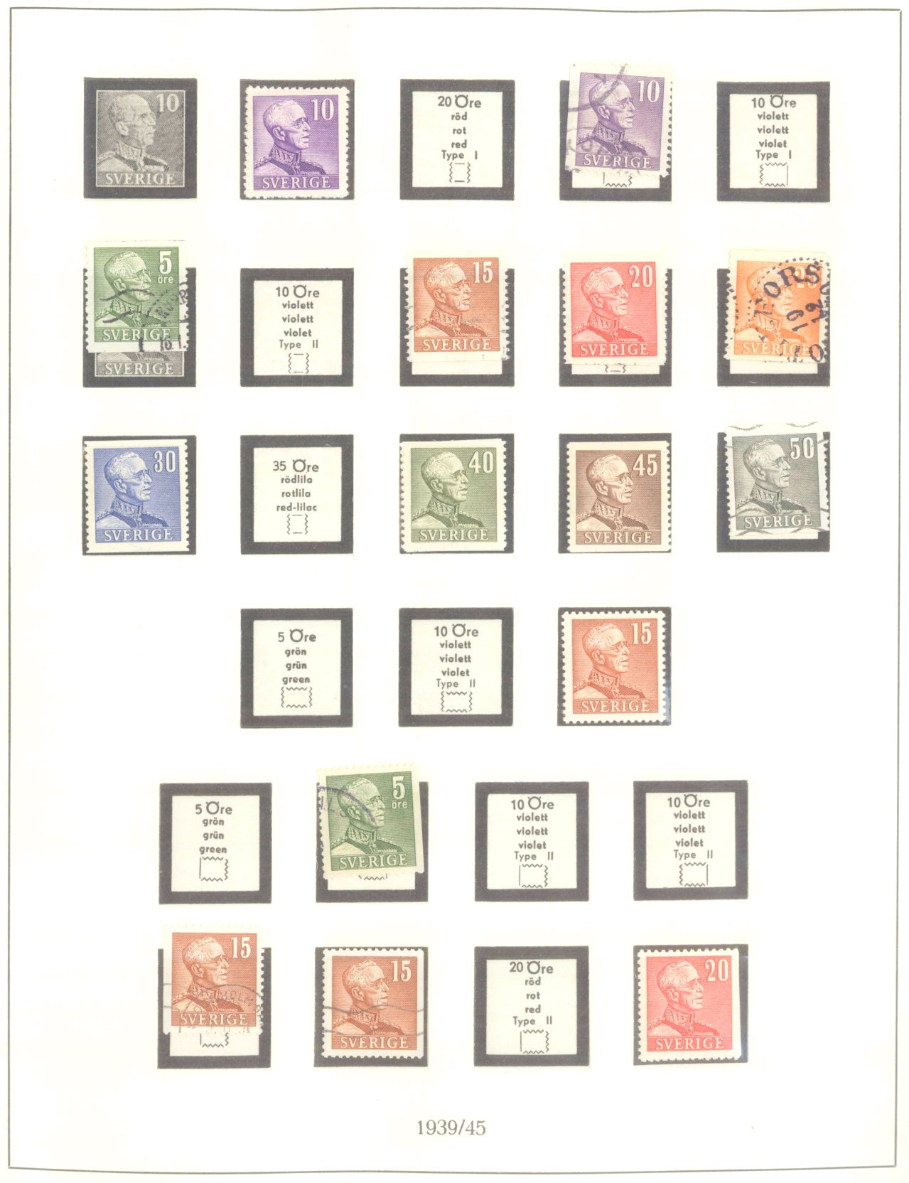 SCHWEDEN 1939-1964