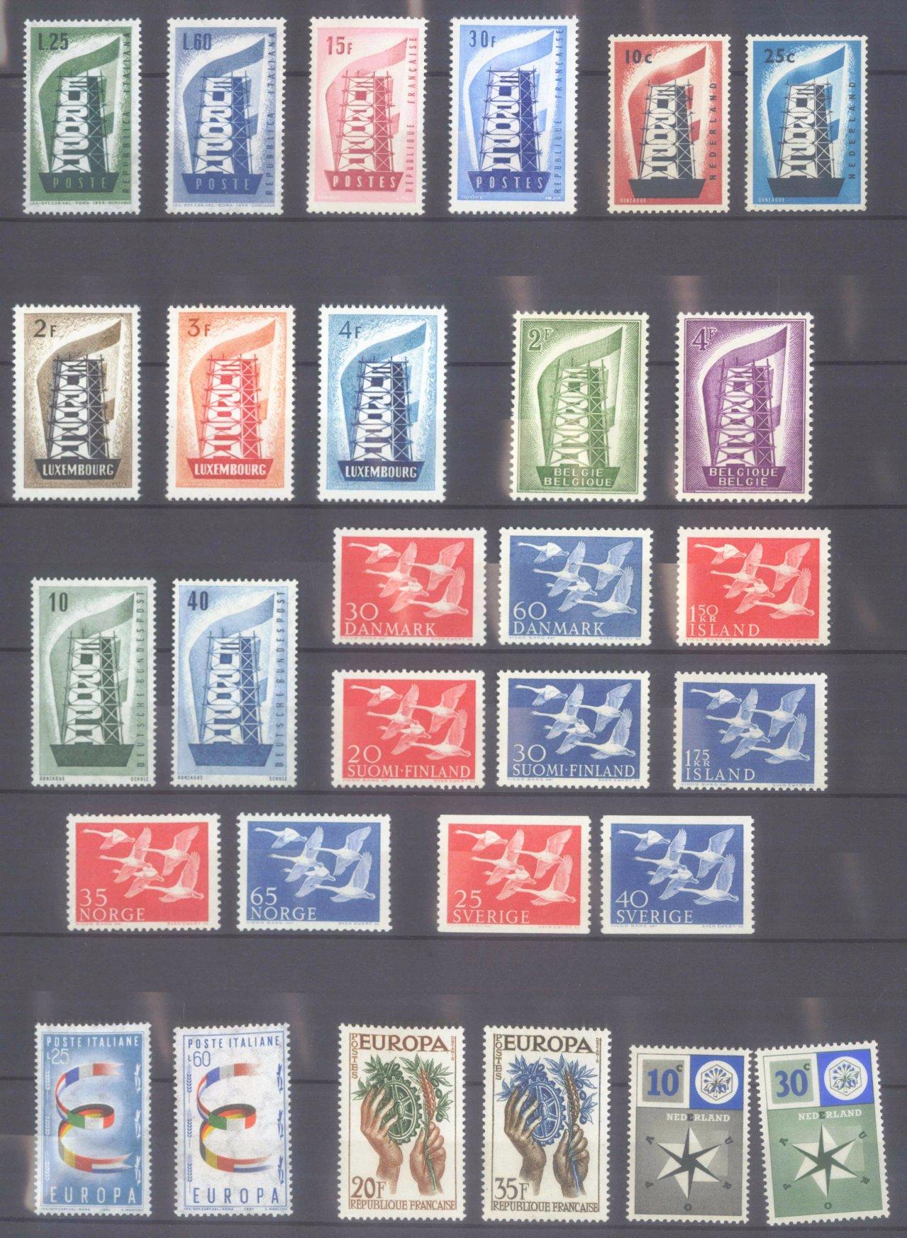 EUROPA CEPT 1956 – 1970