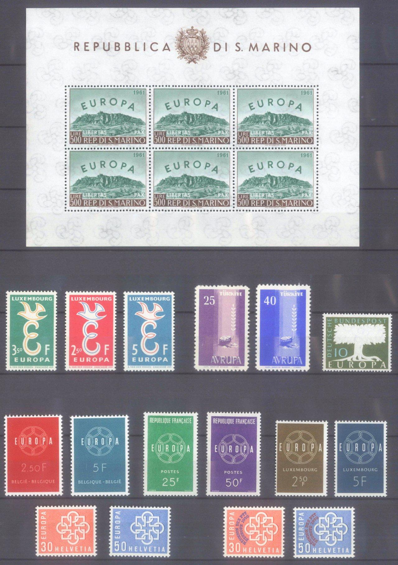 EUROPA CEPT 1956 – 1970-2