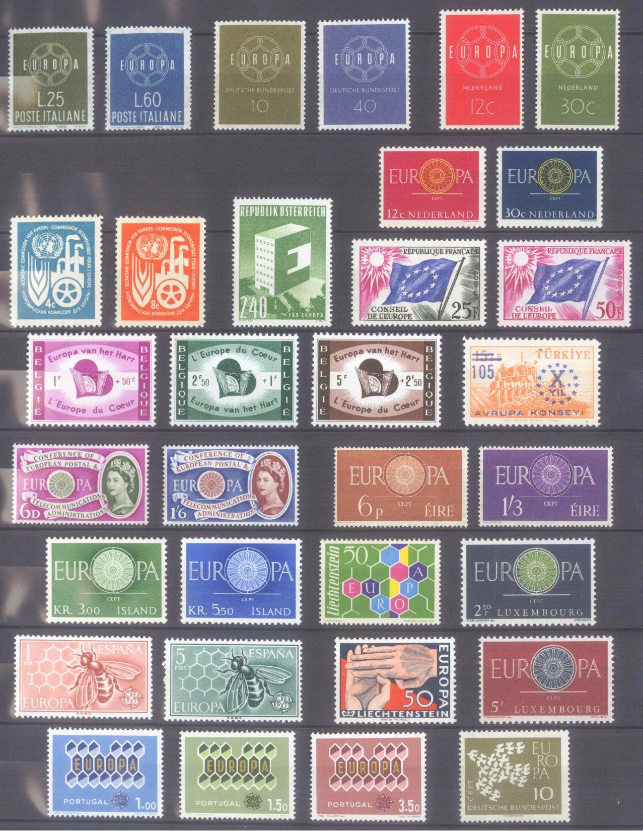 EUROPA CEPT 1956 – 1970-3