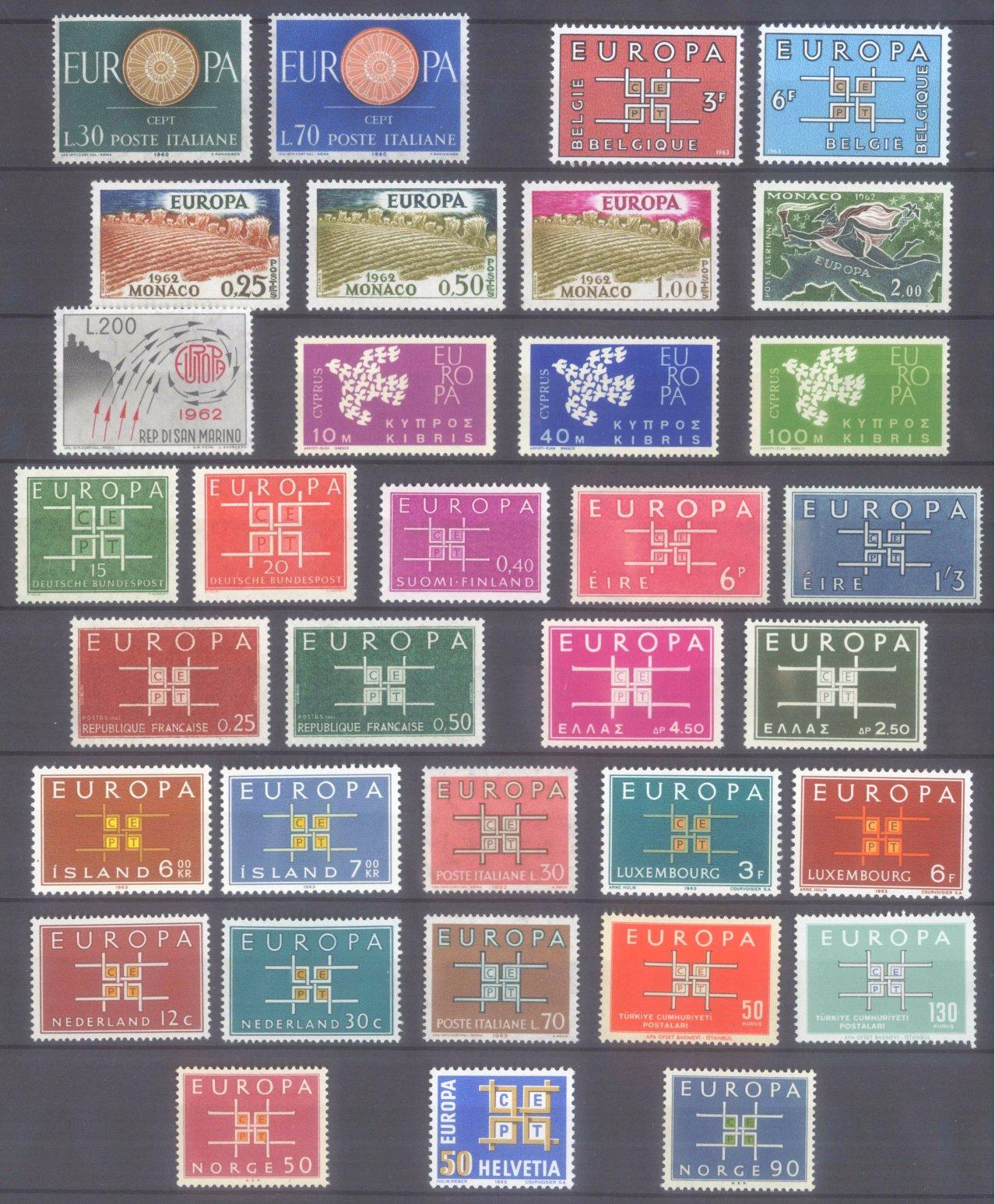 EUROPA CEPT 1956 – 1970-4