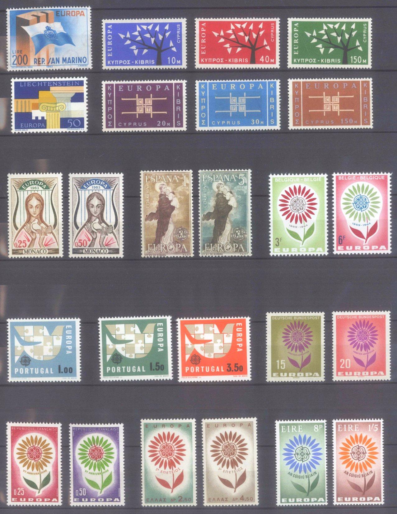 EUROPA CEPT 1956 – 1970-6