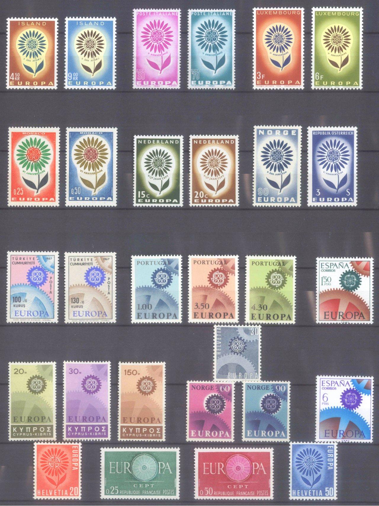 EUROPA CEPT 1956 – 1970-7