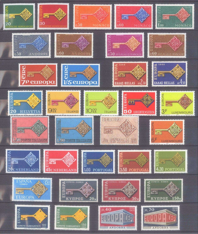 EUROPA CEPT 1956 – 1970-8