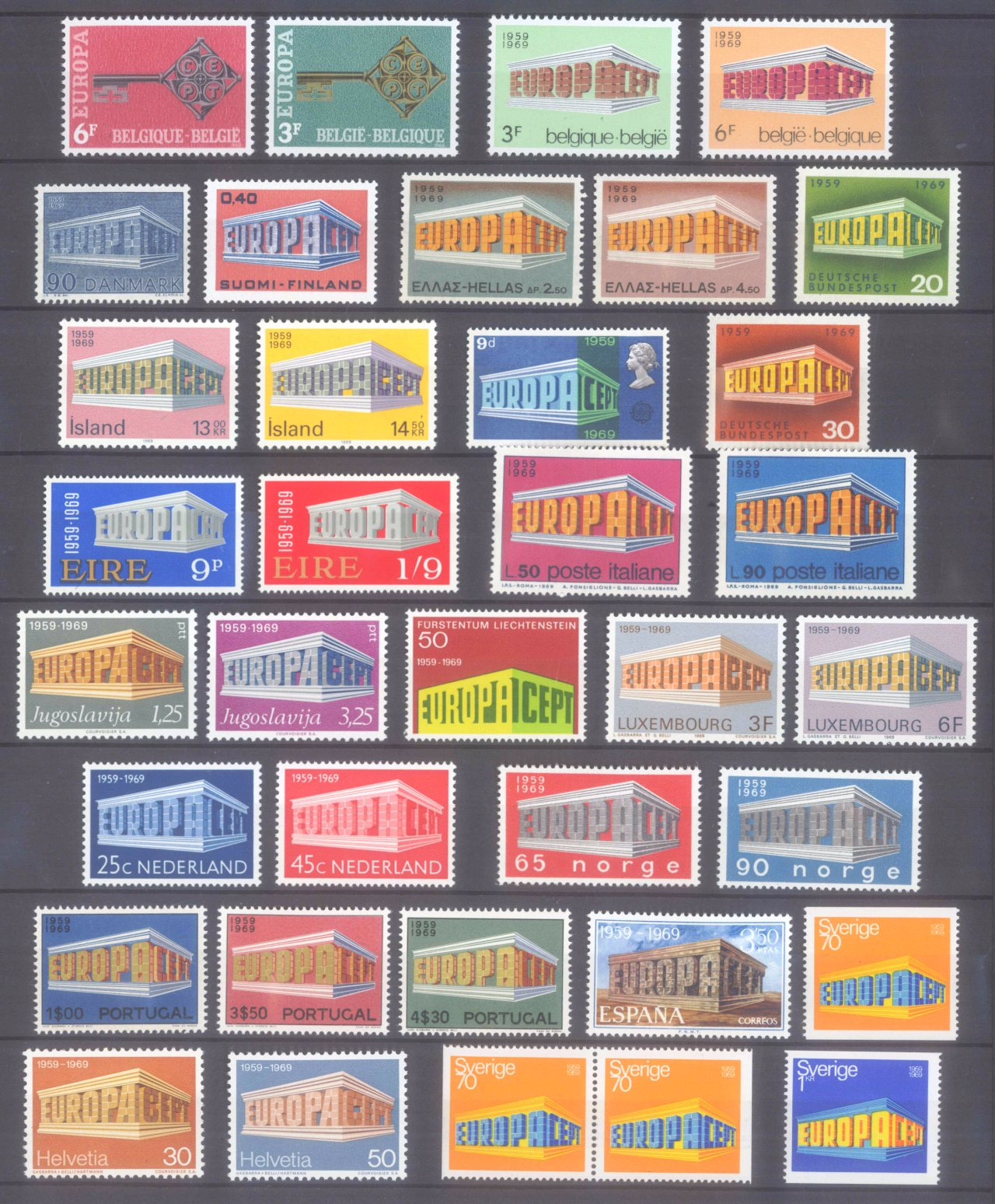 EUROPA CEPT 1956 – 1970-9