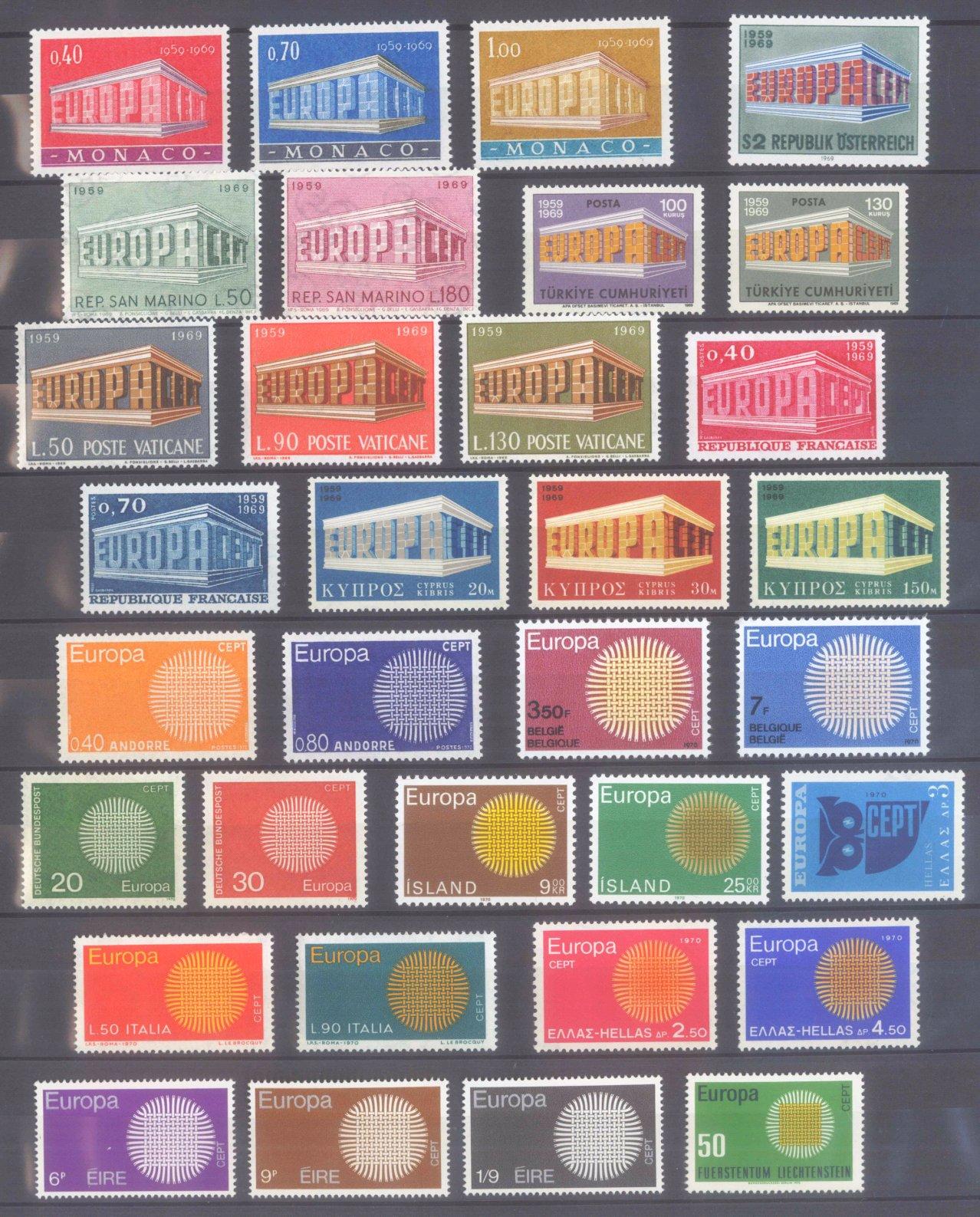 EUROPA CEPT 1956 – 1970-10