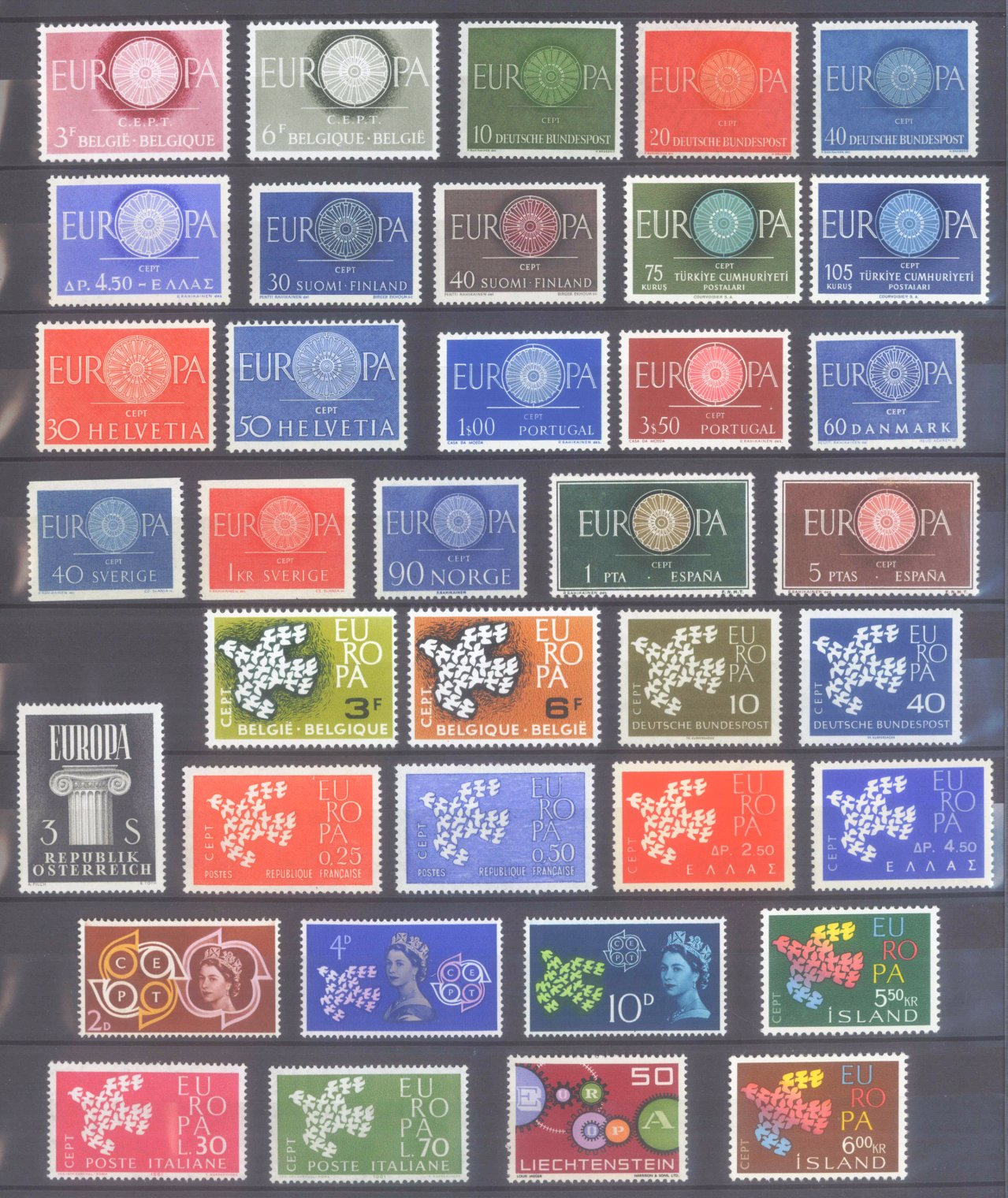 EUROPA CEPT 1956 – 1970-12