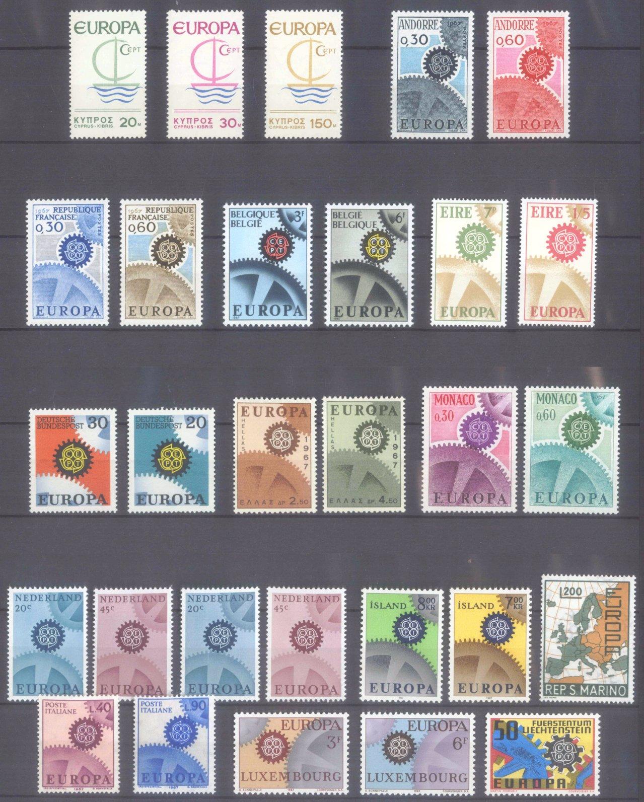 EUROPA CEPT 1956 – 1970-15