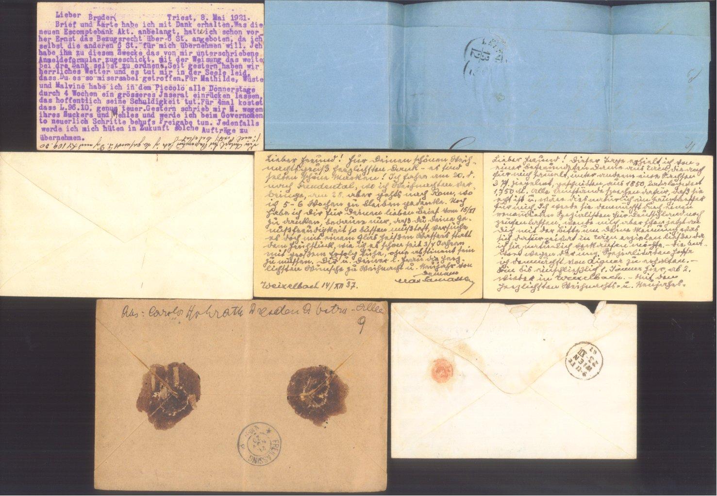 ÖSTERREICH 1883-1921, Belegepartie (auch Motiv DATUM!)-5
