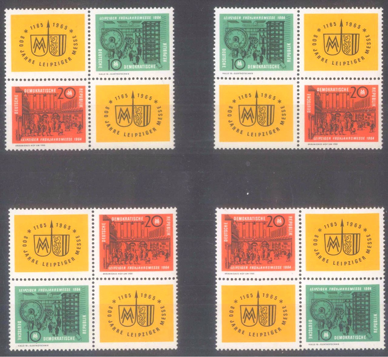 Sammlung DDR Zusammendrucke